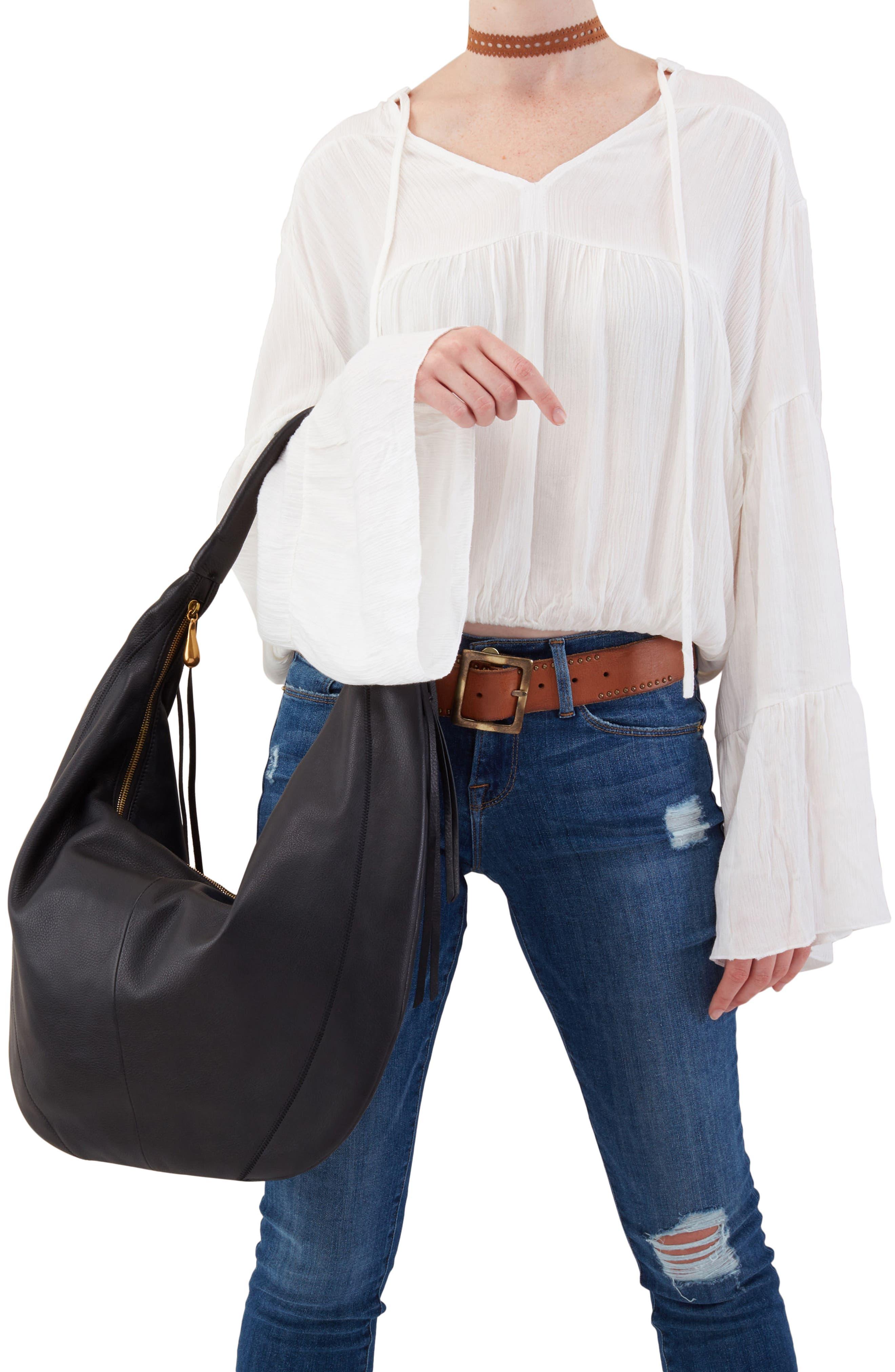 Kindred Leather Shoulder Bag,                             Alternate thumbnail 2, color,                             001