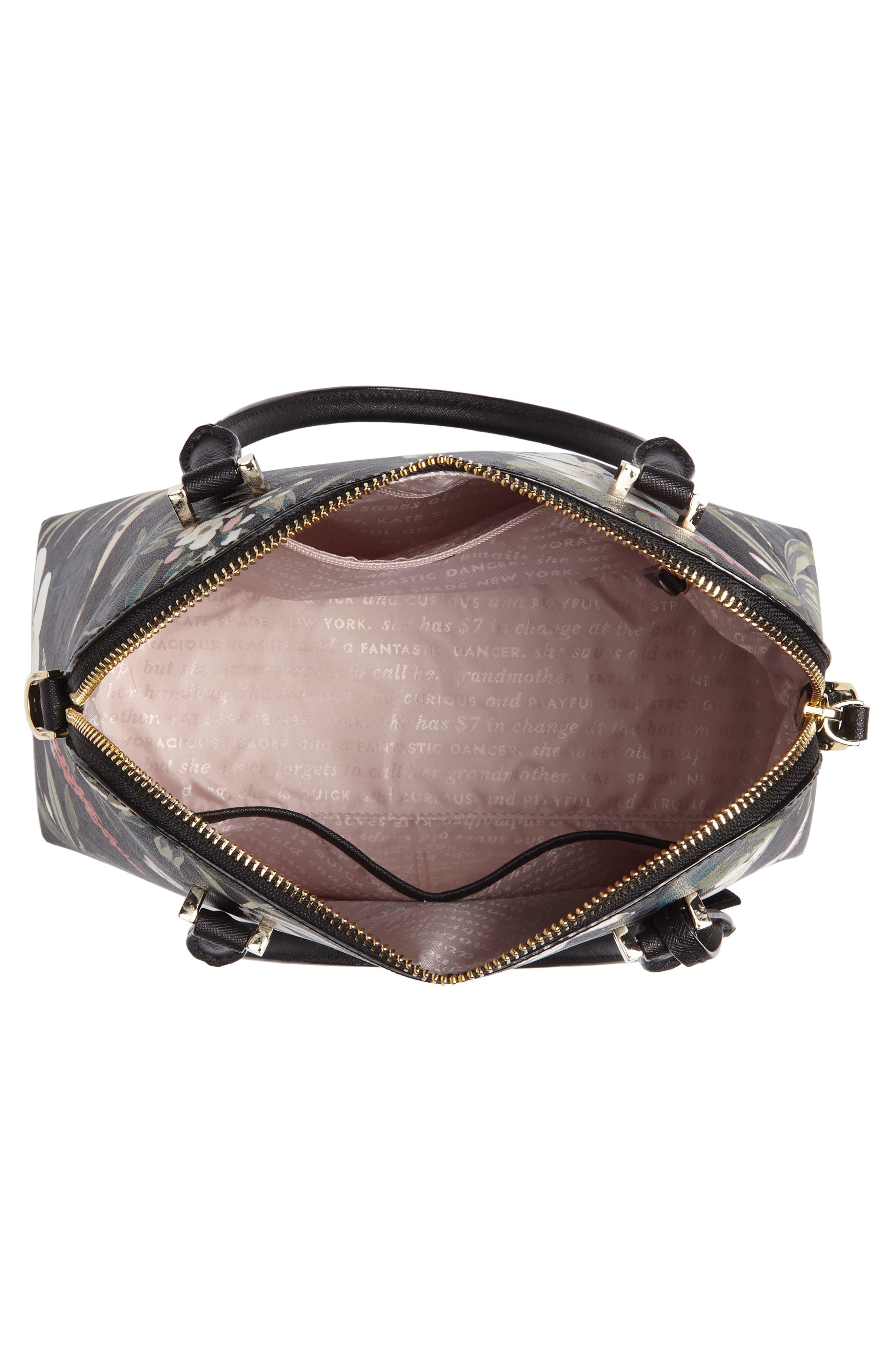 cameron street botanical maise faux leather satchel,                             Alternate thumbnail 4, color,