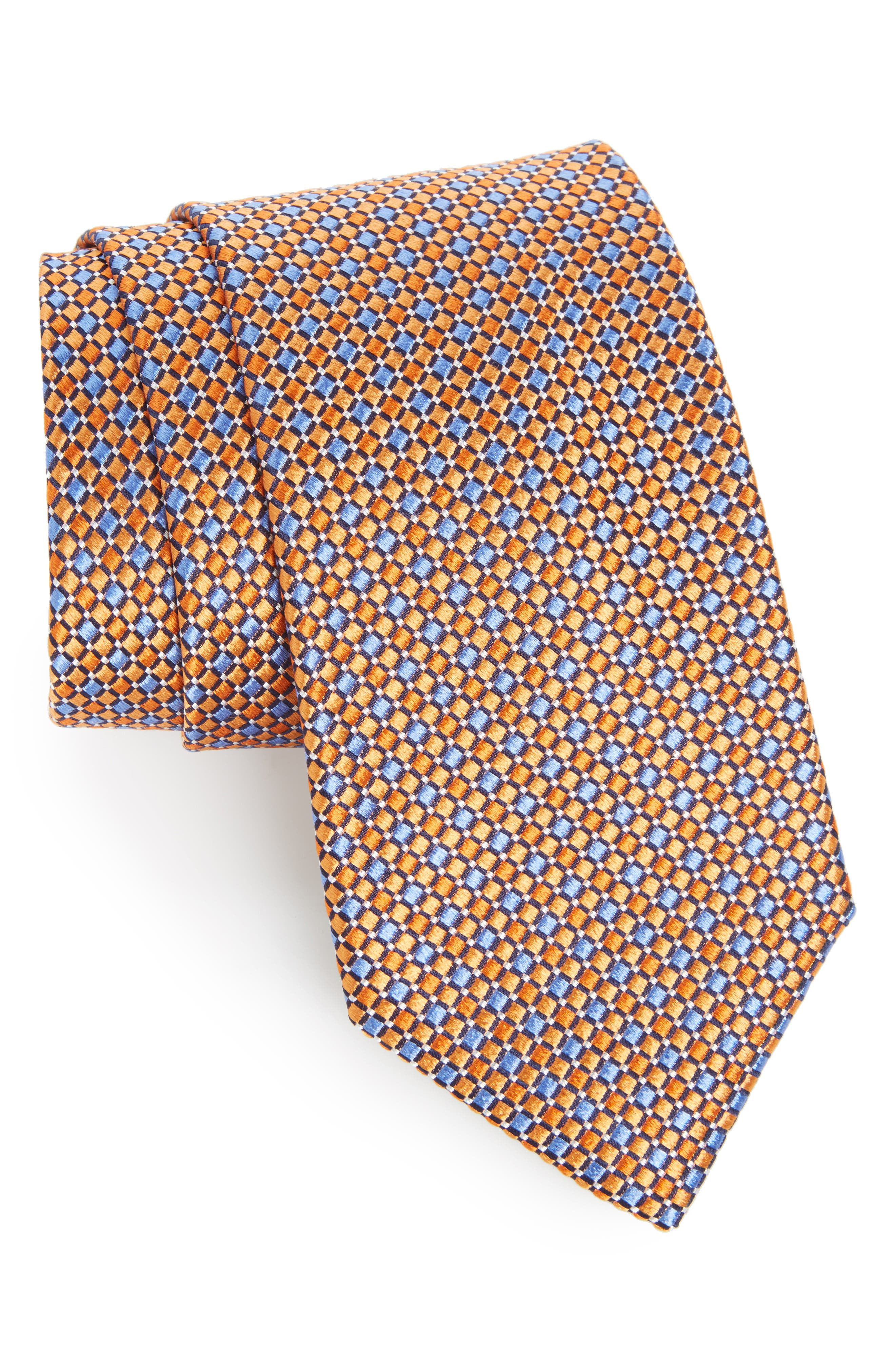 Geo Pattern Silk Tie,                             Main thumbnail 11, color,