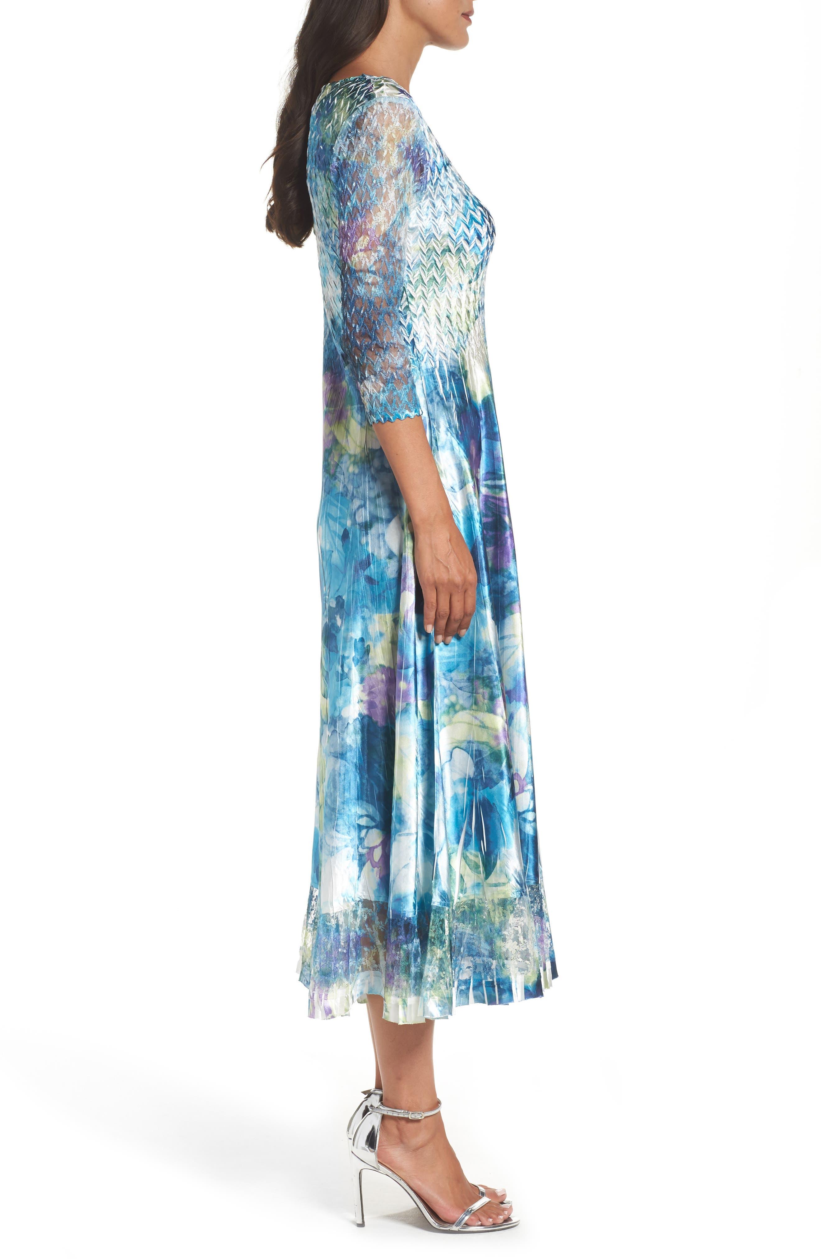 A-Line Dress,                             Alternate thumbnail 3, color,                             408