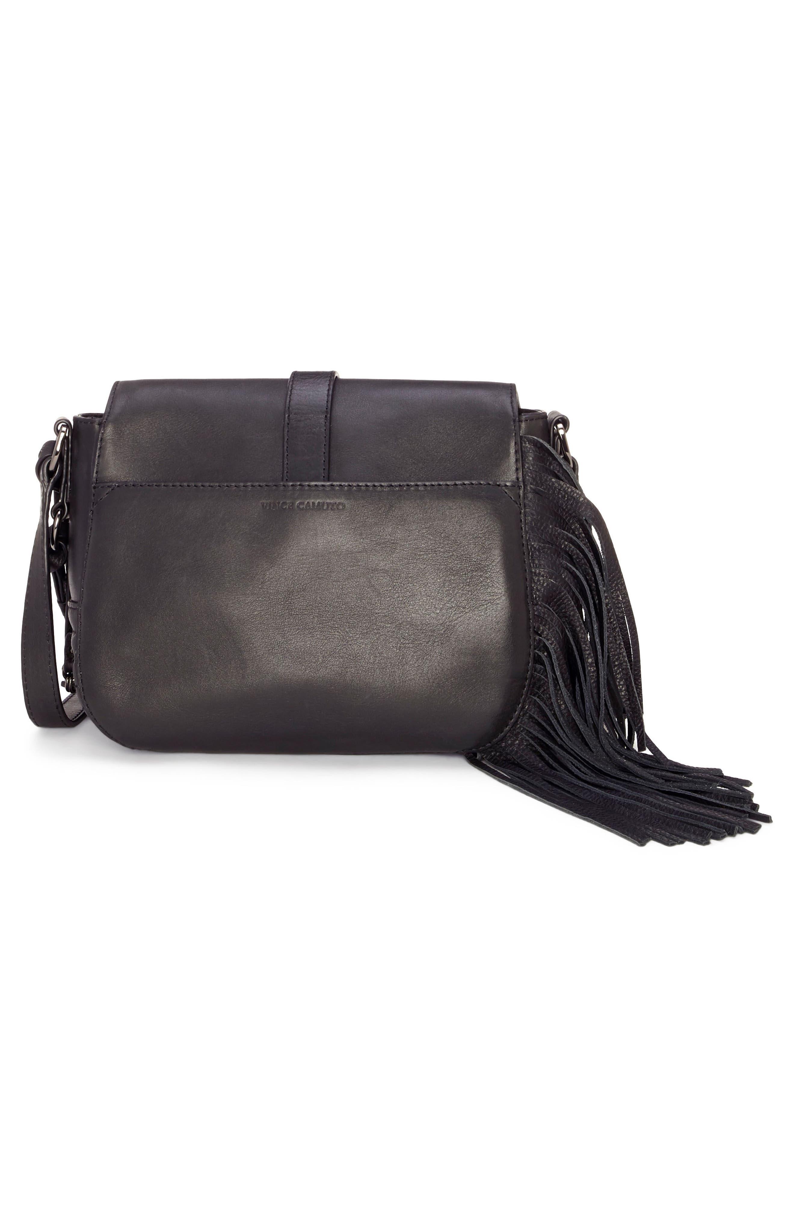 Hil Leather Crossbody Bag,                             Alternate thumbnail 2, color,                             002