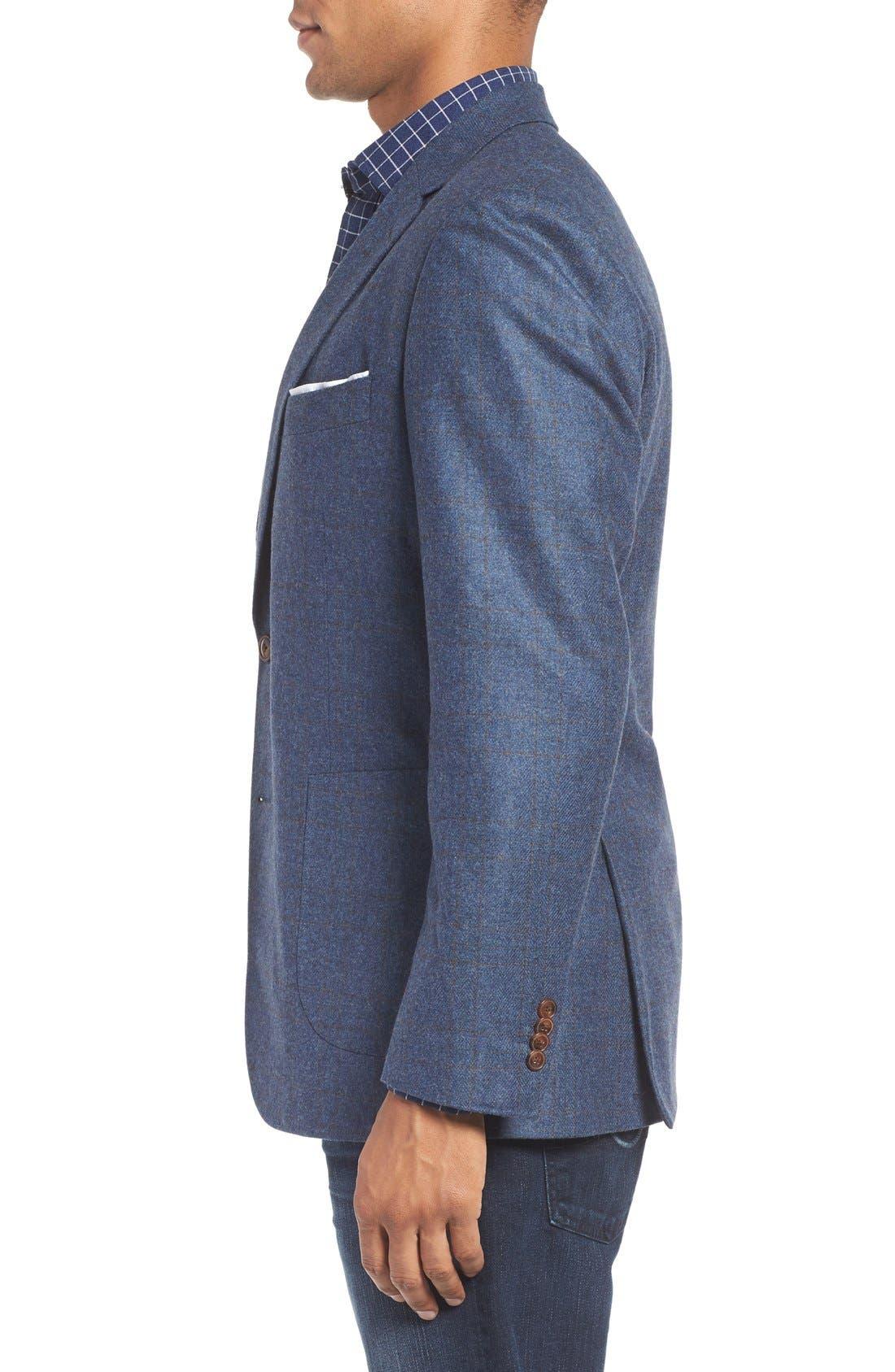 'Clareinch' Herringbone Plaid Sport Coat,                             Alternate thumbnail 4, color,