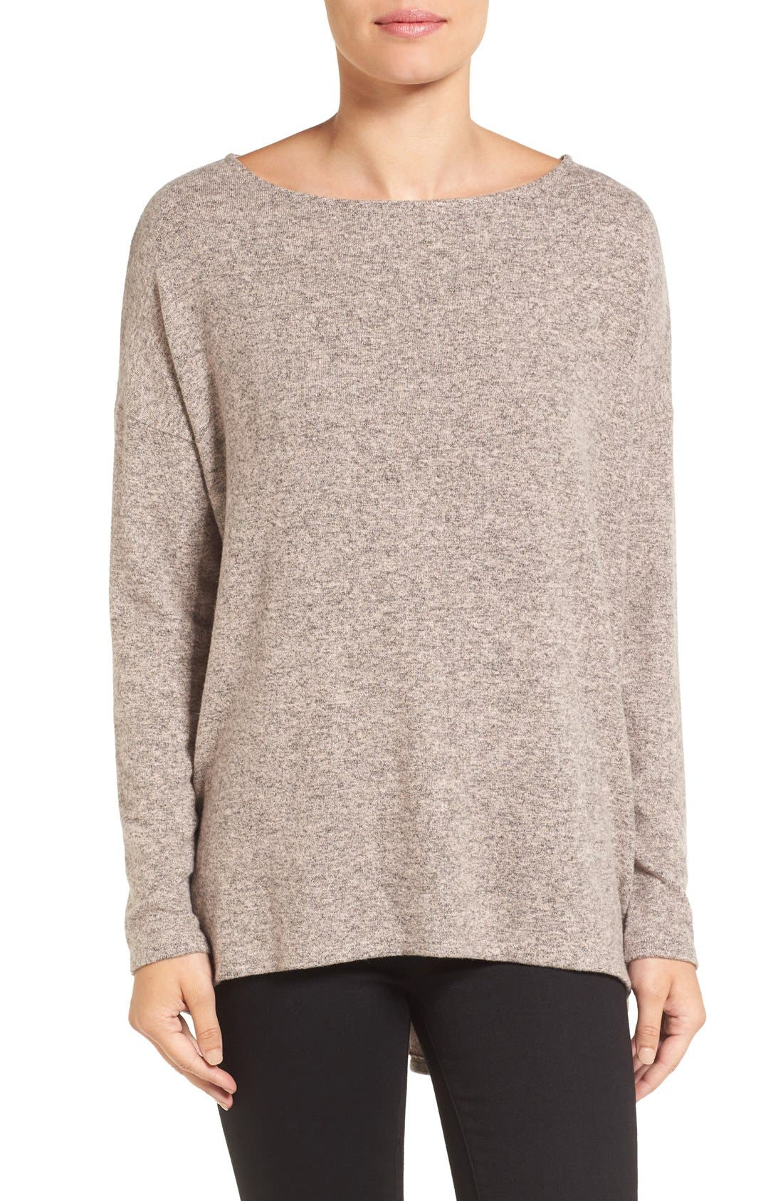 Cozy Ballet Neck High/Low Pullover,                             Main thumbnail 16, color,