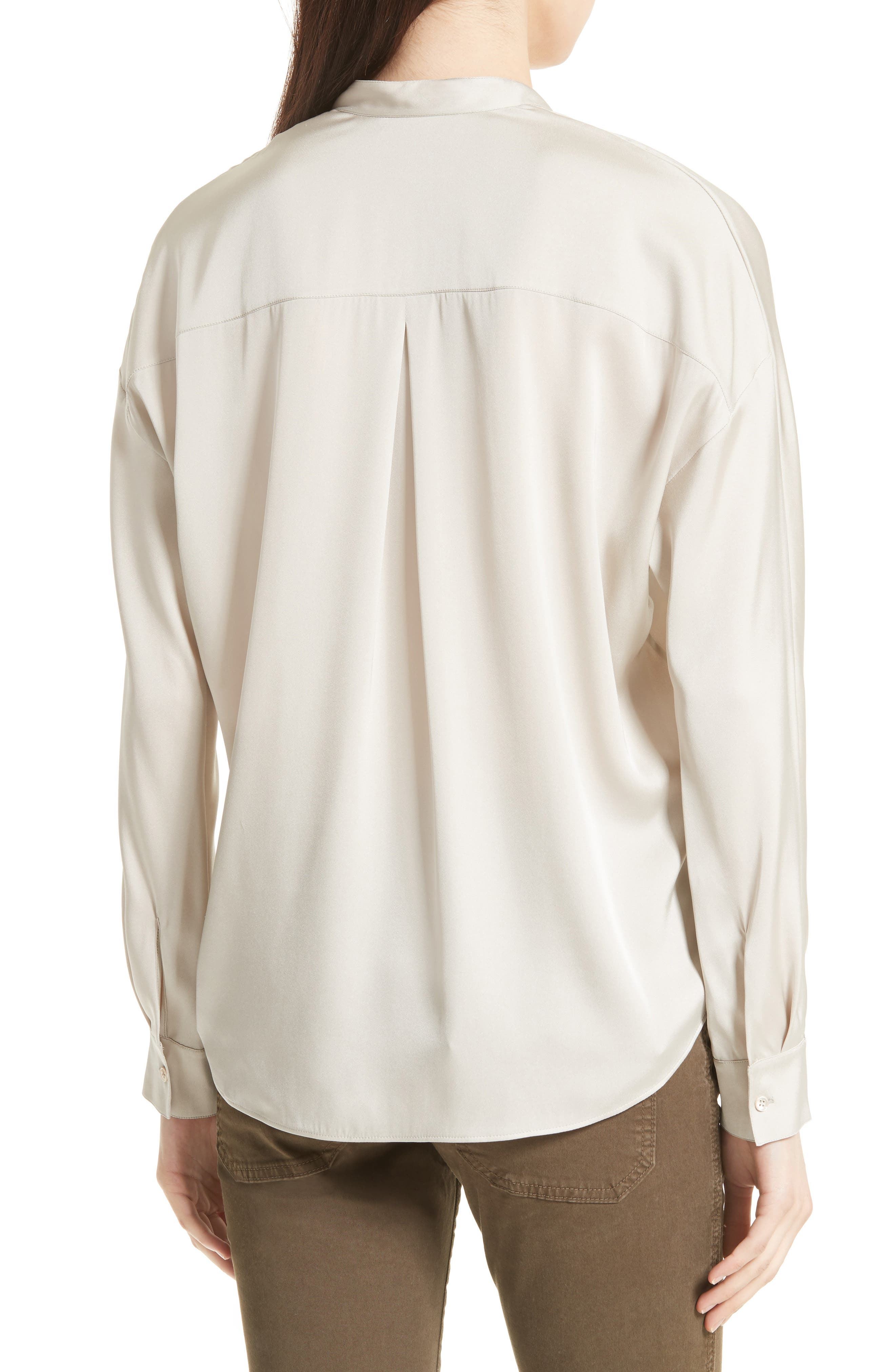 Double Front Stretch Silk Shirt,                             Alternate thumbnail 2, color,                             254