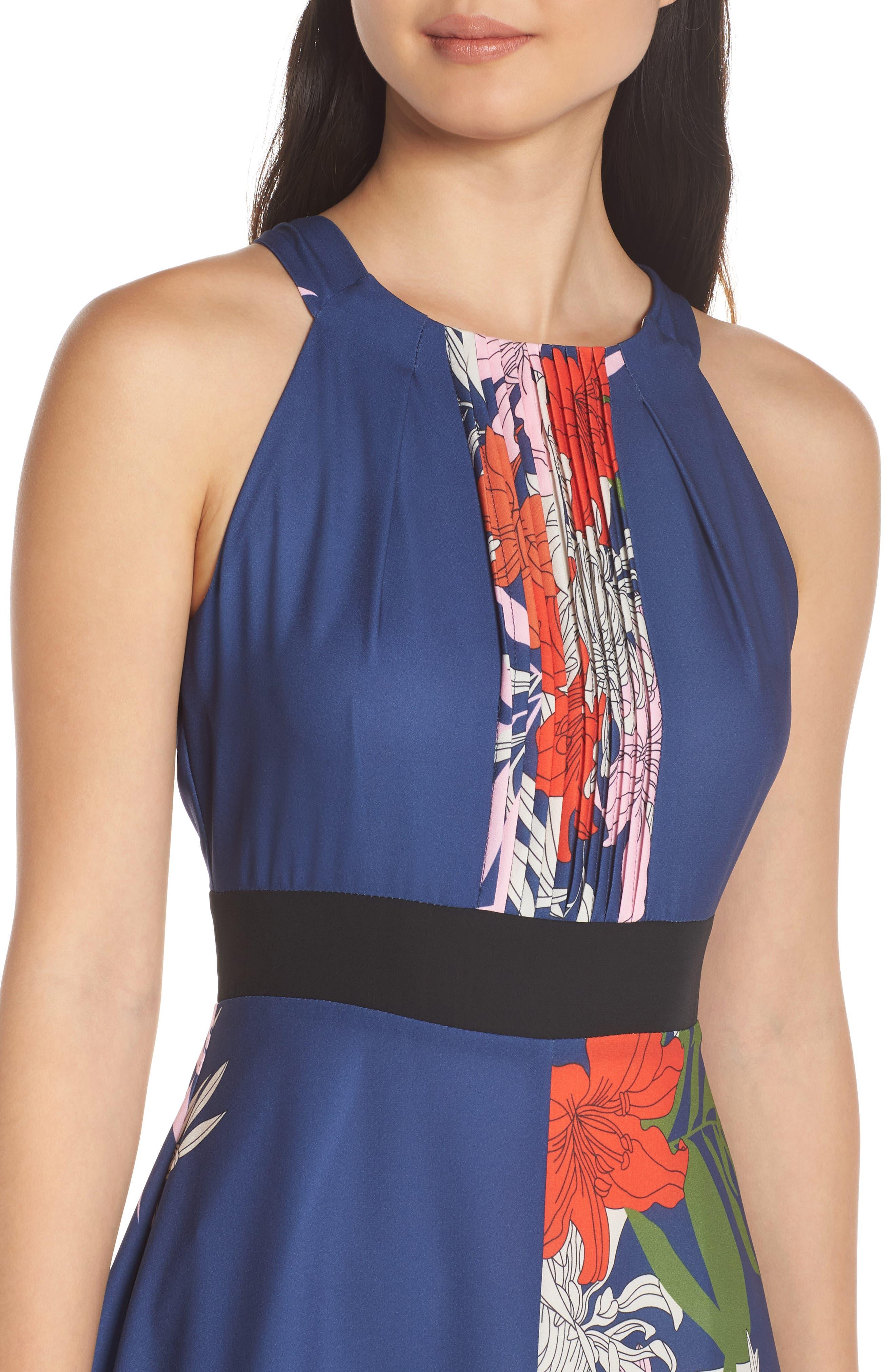 Palmira Maxi Dress,                             Alternate thumbnail 4, color,                             NAVY MULTI