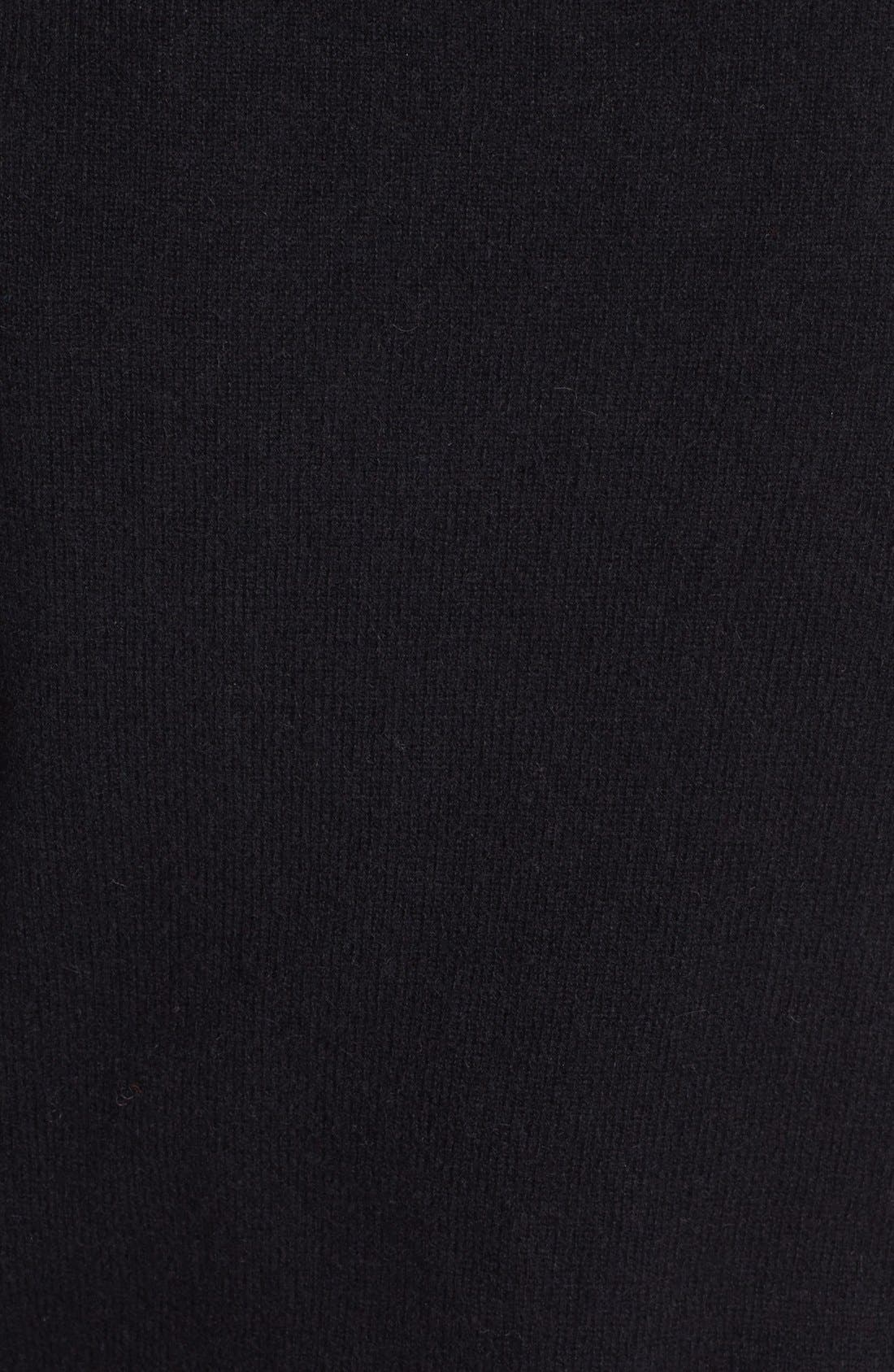 HALOGEN<SUP>®</SUP>,                             V-Neck Cashmere Sweater,                             Alternate thumbnail 2, color,                             001