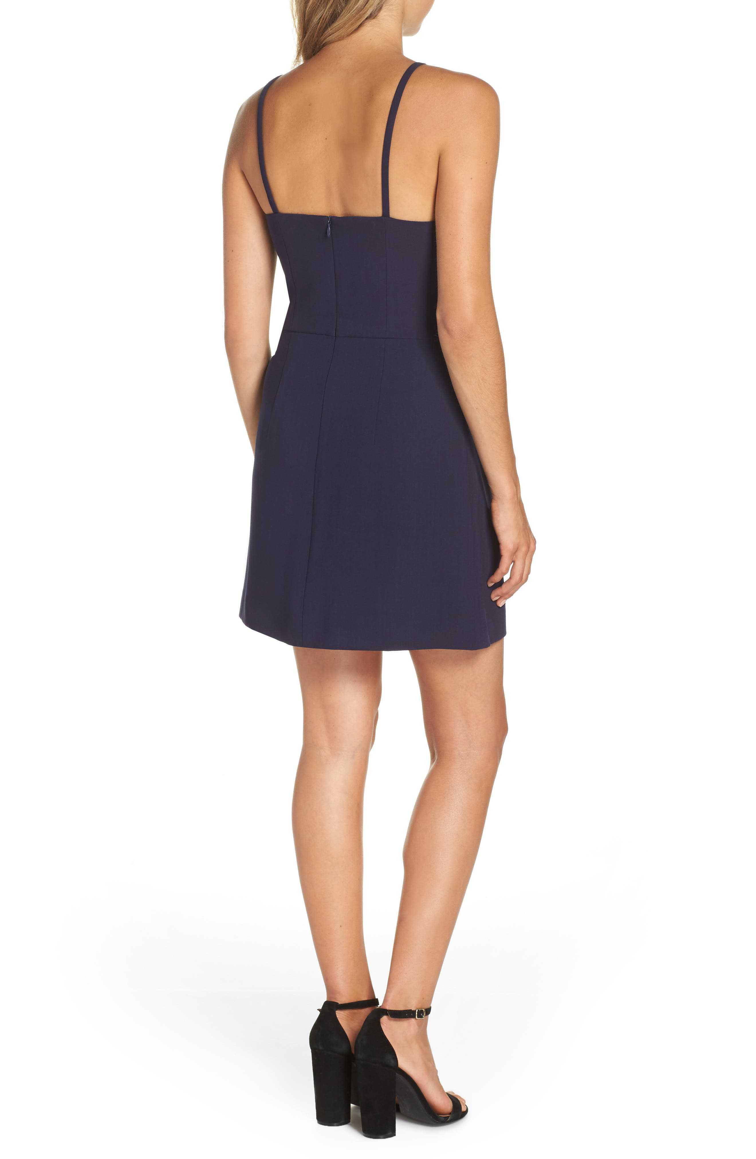 Whisper Light Sheath Dress,                             Alternate thumbnail 2, color,                             DUCHESS BLUE