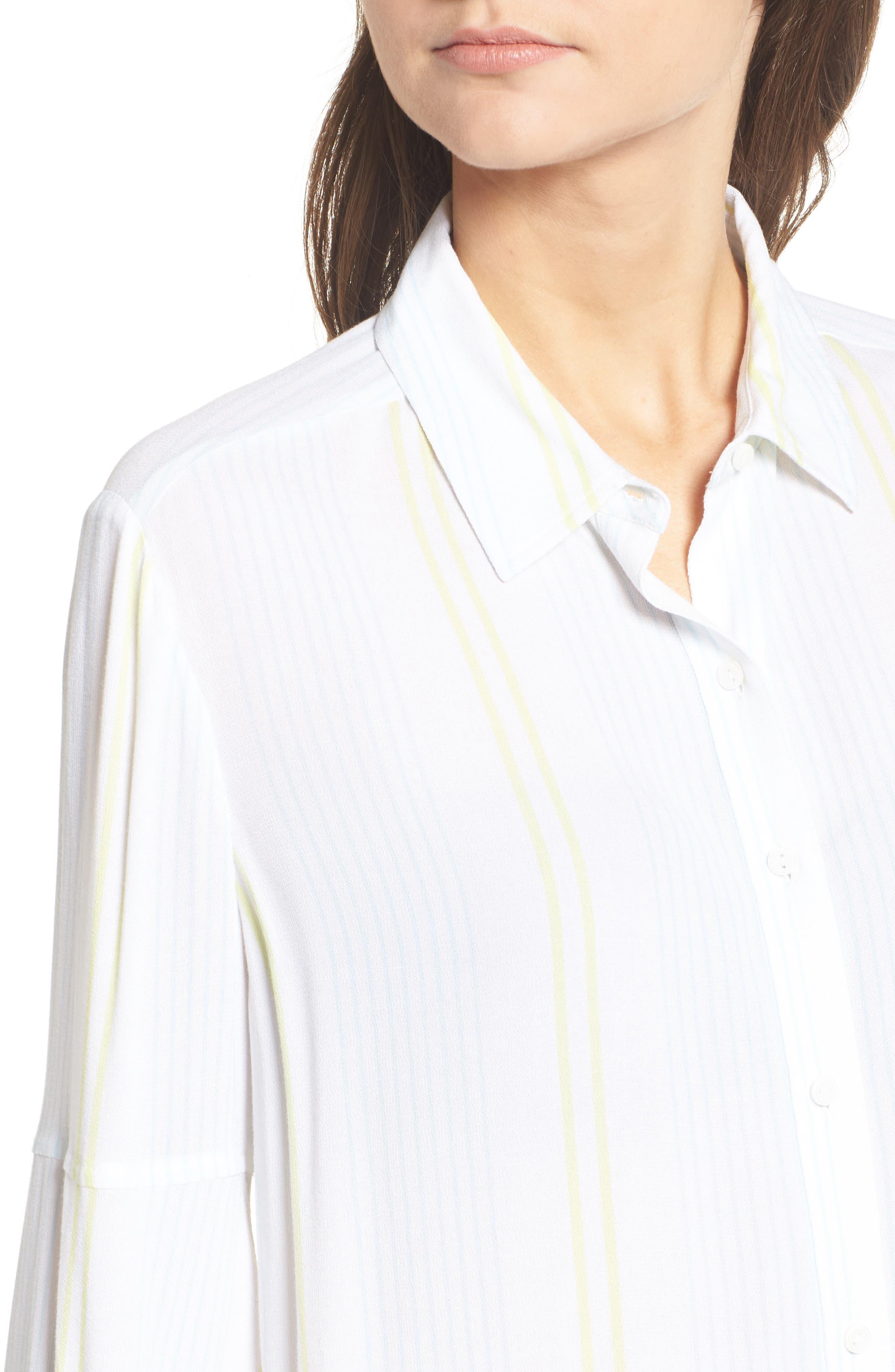 Blouson Sleeve Shirt,                             Alternate thumbnail 4, color,                             101