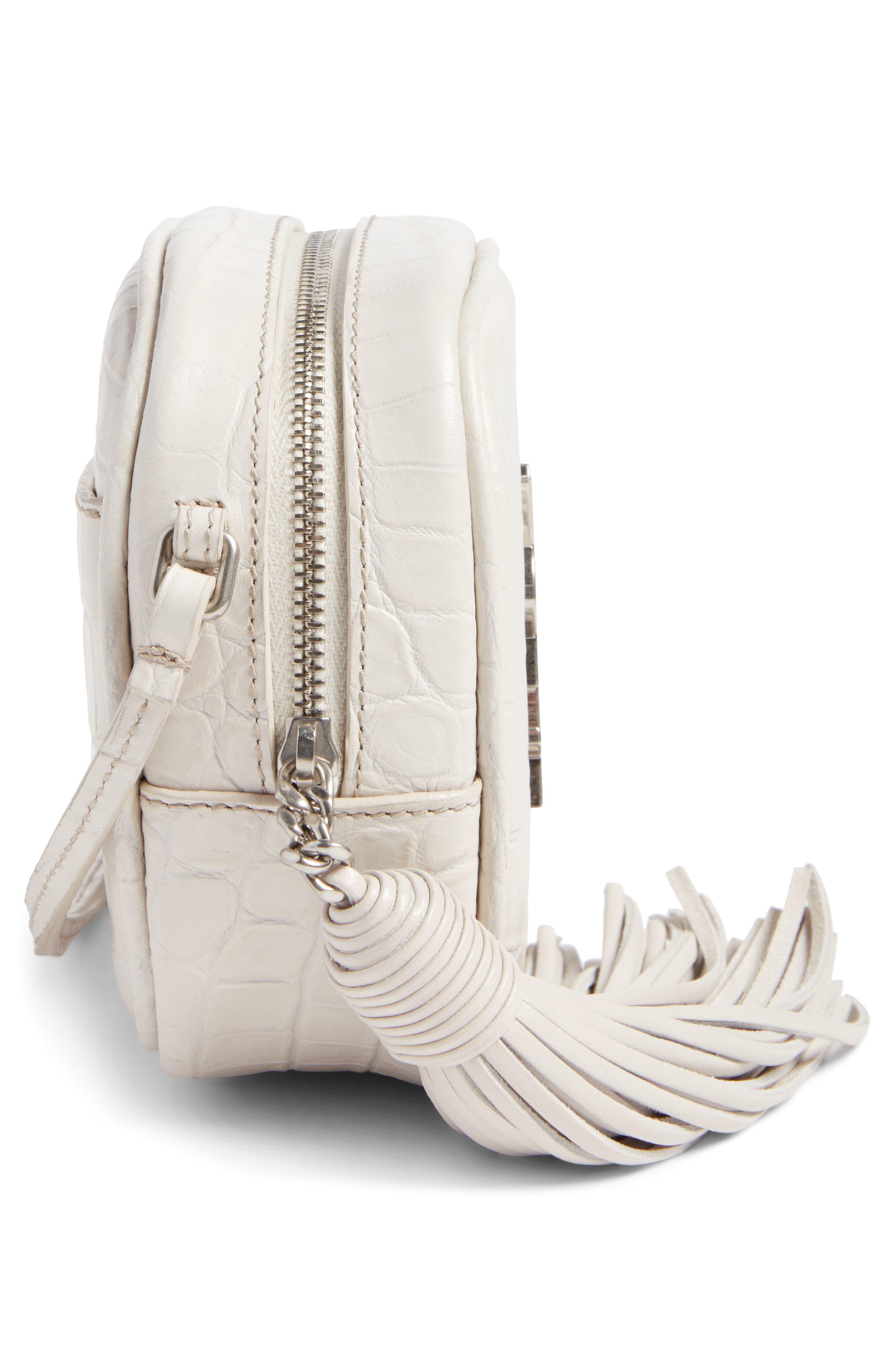 Monogram Blogger Leather Crossbody Bag,                             Alternate thumbnail 5, color,