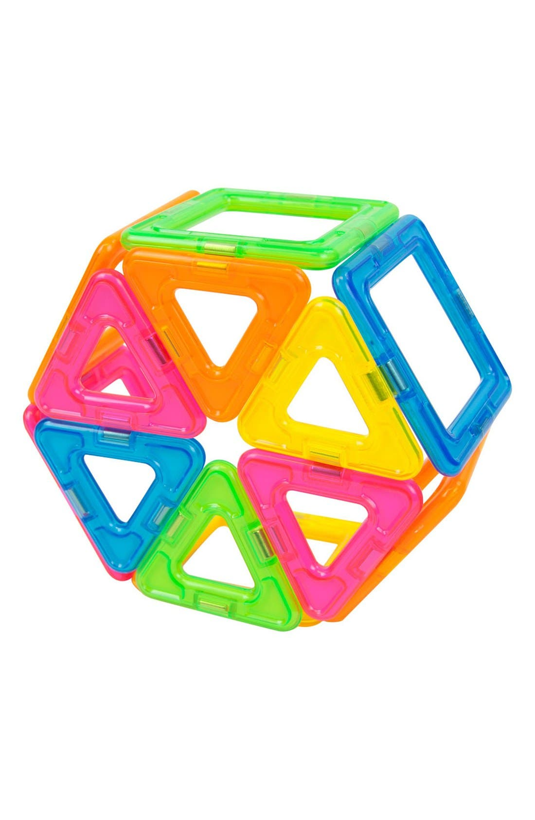 'Creator' Neon Magnetic 3D Construction Set,                             Alternate thumbnail 5, color,                             NEON RAINBOW