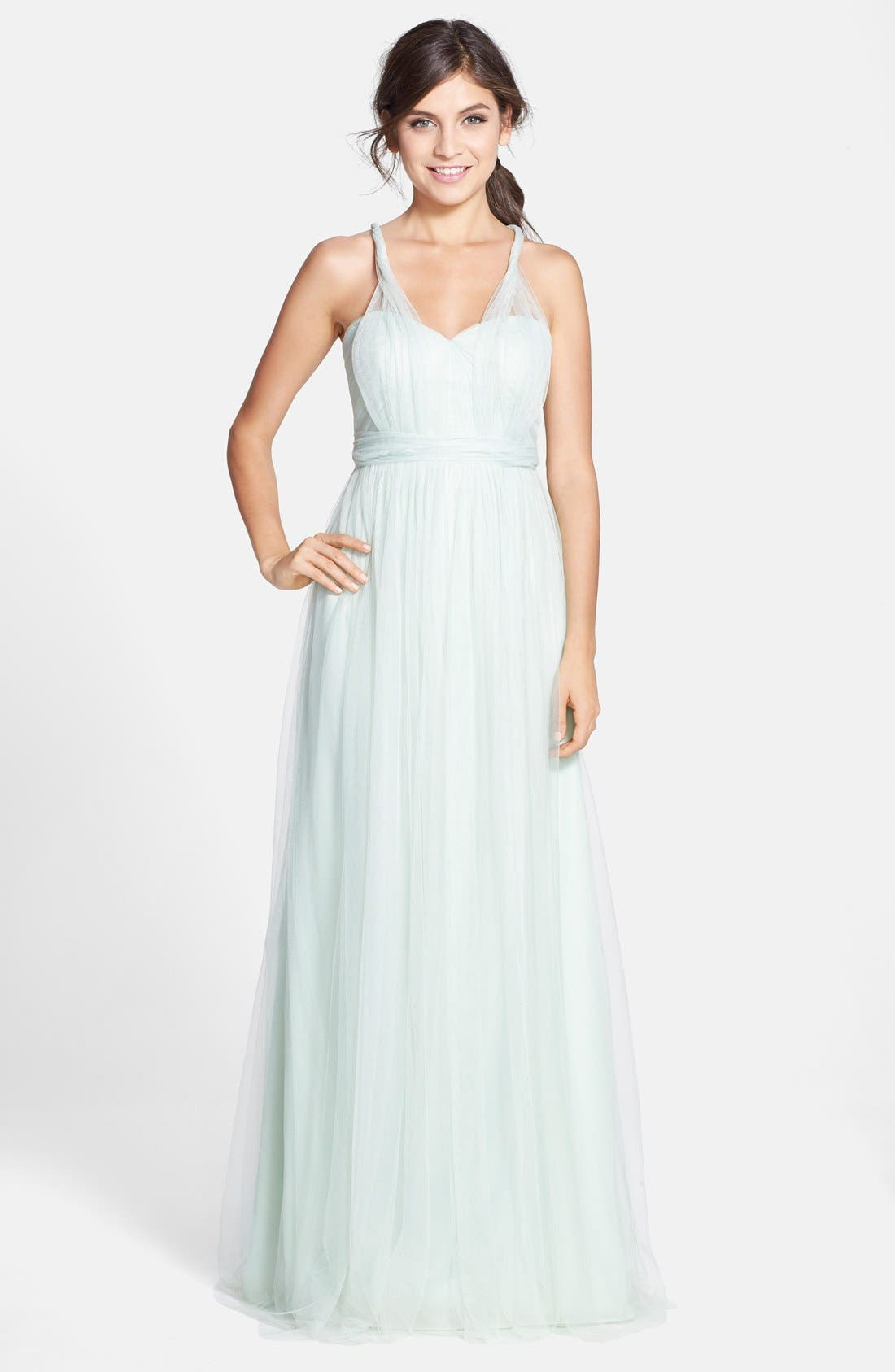 Annabelle Convertible Tulle Column Dress,                             Alternate thumbnail 134, color,