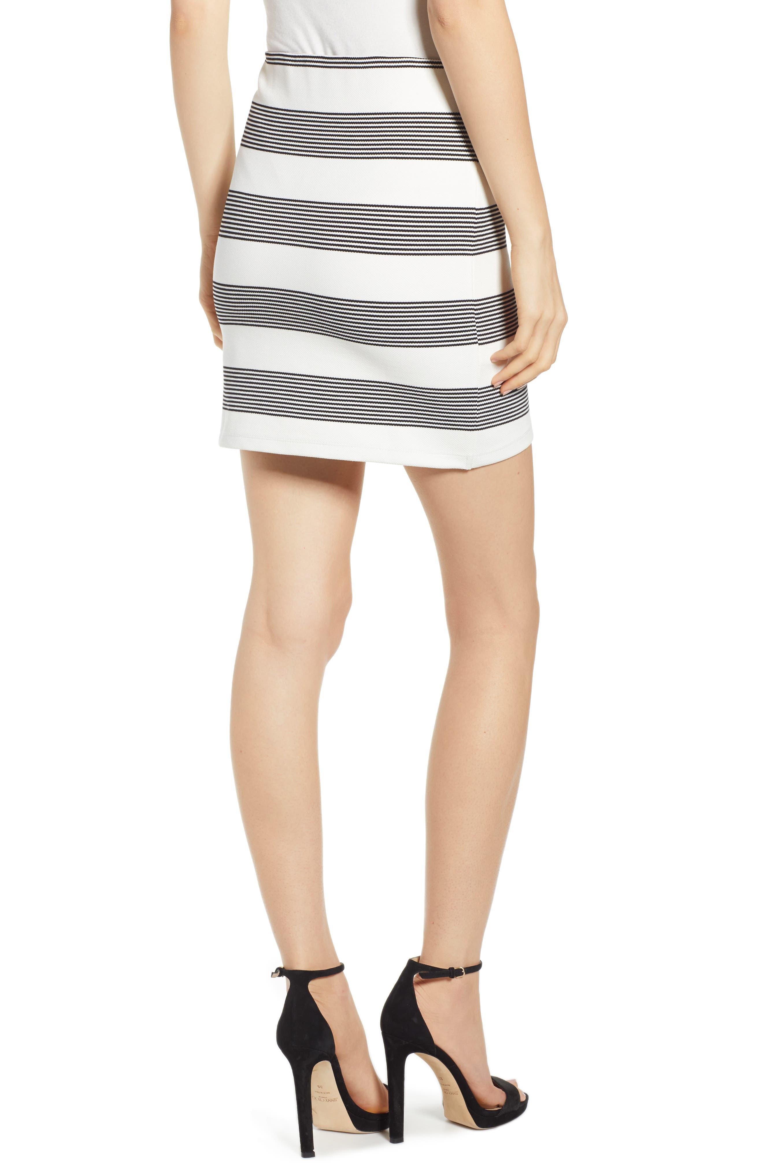 Stripe Miniskirt,                             Alternate thumbnail 2, color,                             BLACK STRIPE