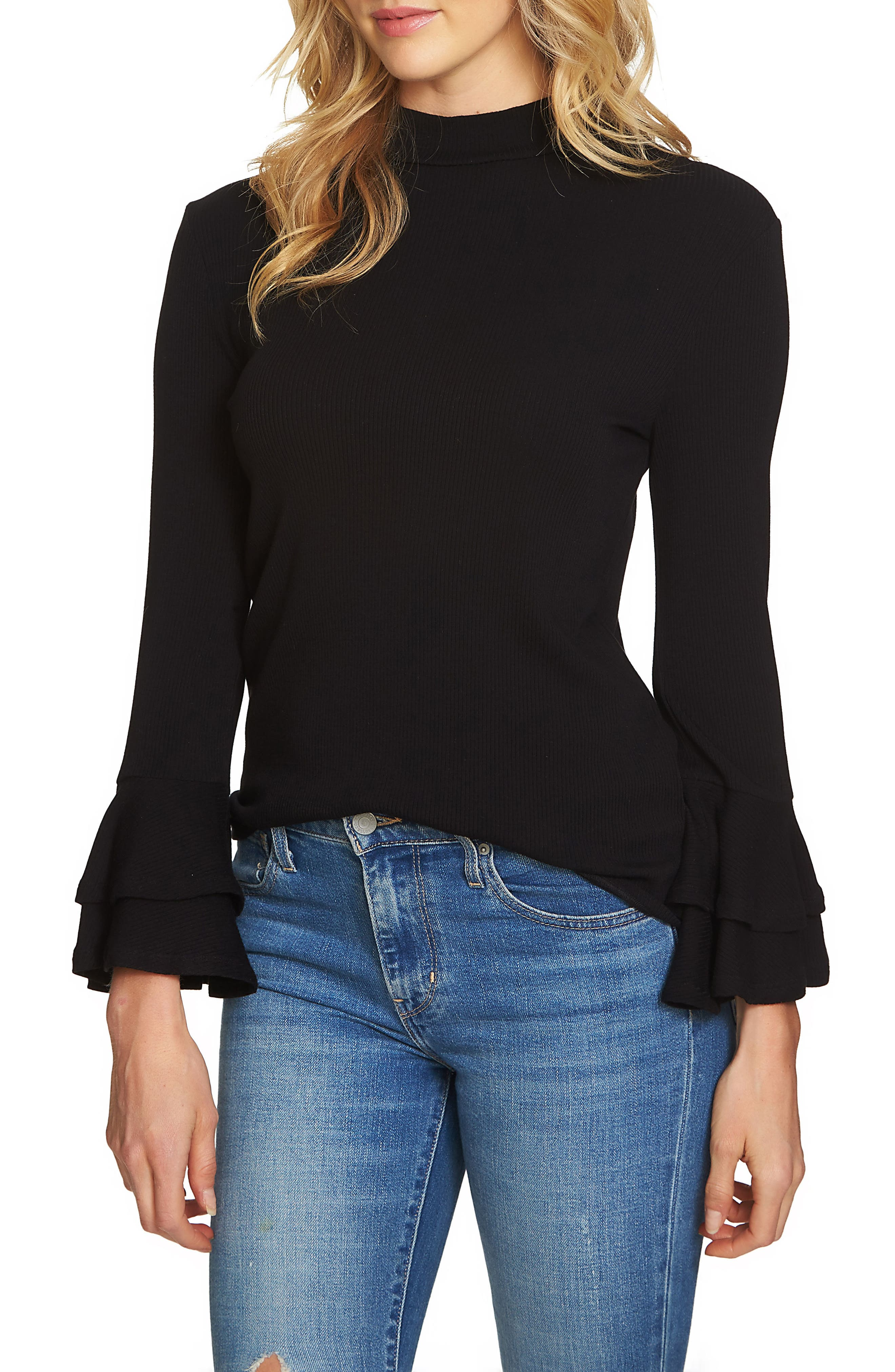Bell Sleeve Top,                             Main thumbnail 1, color,                             010