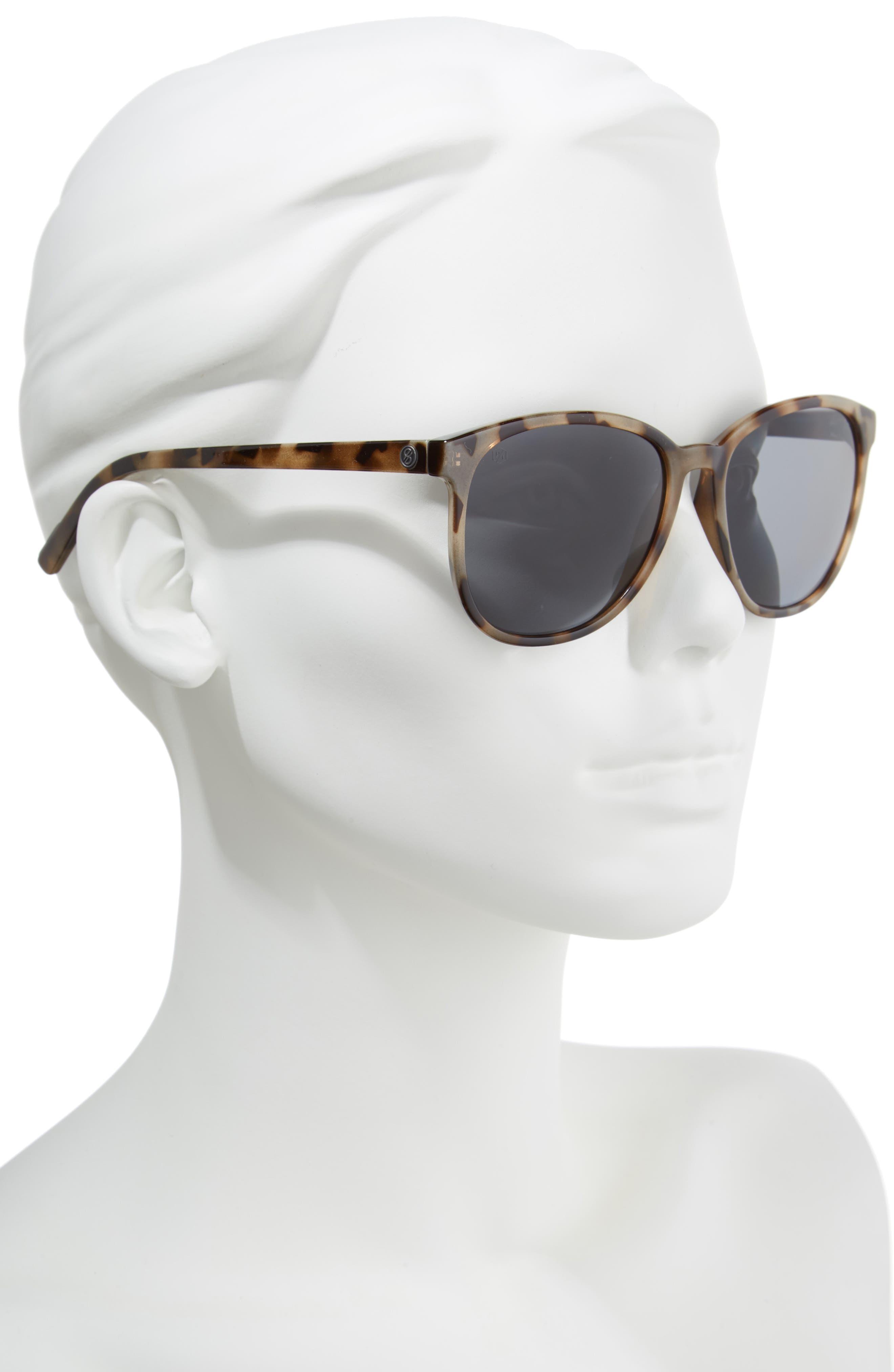 D'BLANC Afternoon Delight 56mm Polarized Sunglasses,                             Alternate thumbnail 2, color,                             SNOW LEOPARD/ GREY POLAR