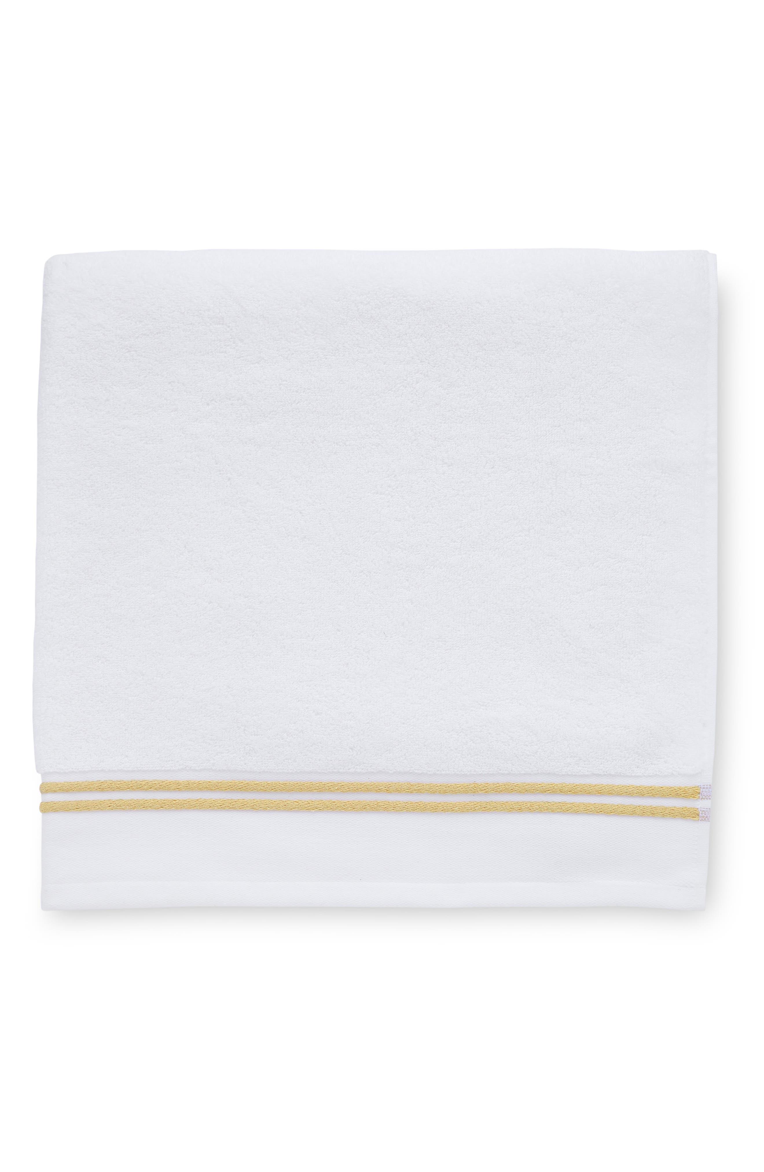 SFERRA Aura Bath Towel, Main, color, WHITE/CORN