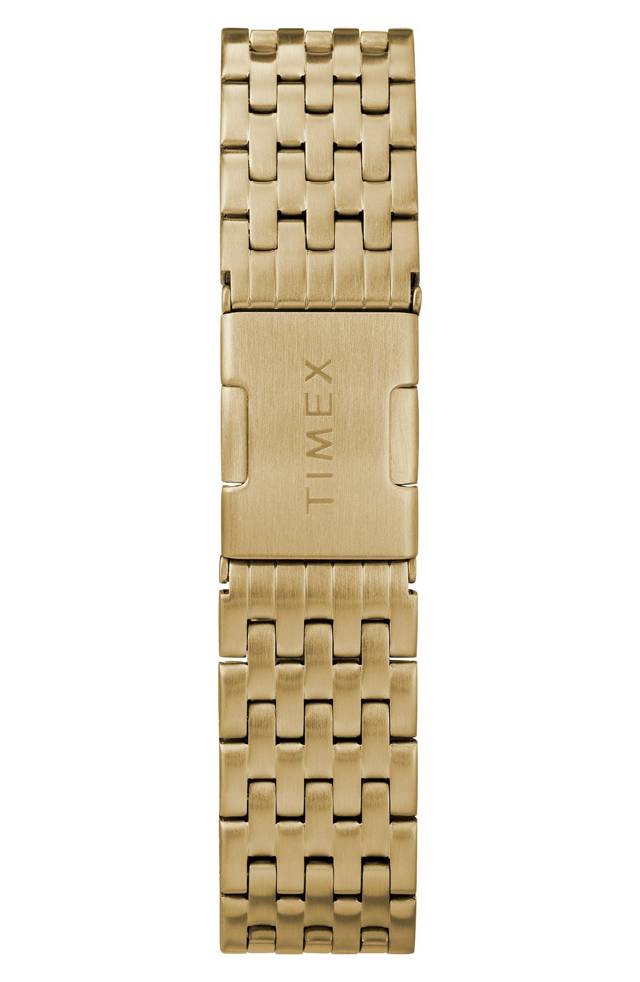 Waterbury Bracelet Watch, 36mm,                             Alternate thumbnail 2, color,                             GOLD/ WHITE/ GOLD