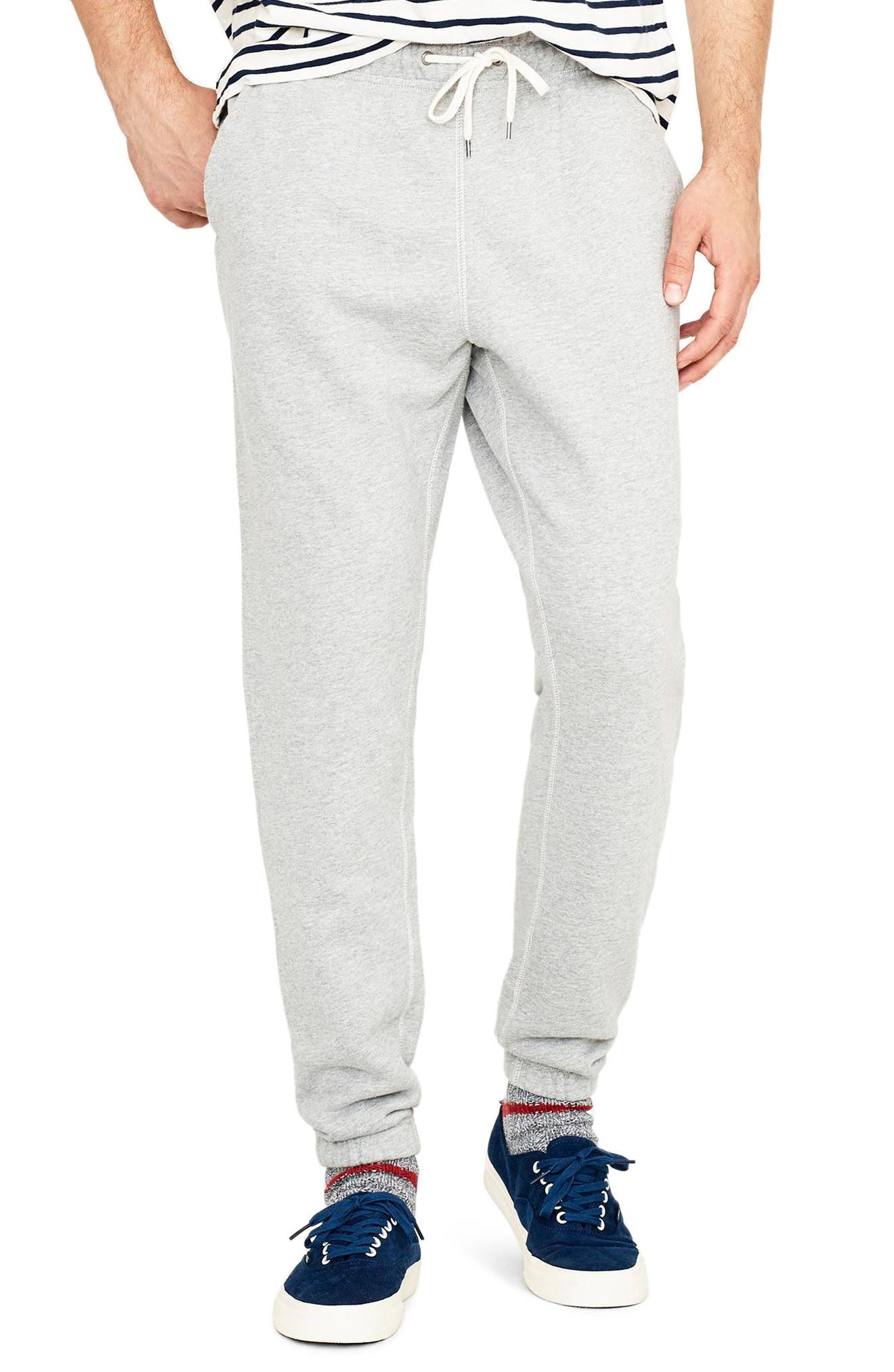 French Terry Sweatpants,                         Main,                         color, HEATHER GREY