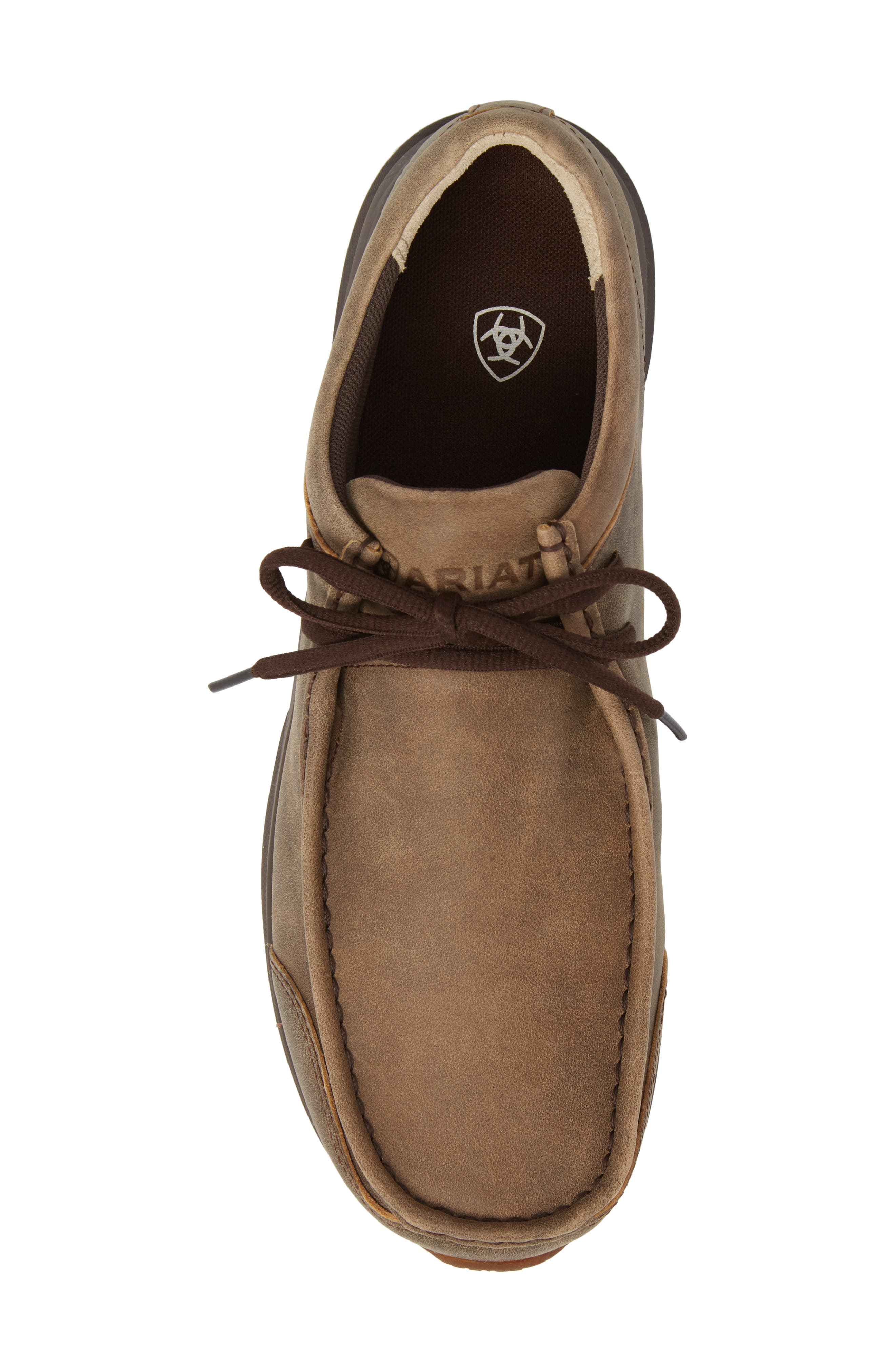 Spitfire Moc Toe Lace-Up,                             Alternate thumbnail 5, color,                             BROWN LEATHER