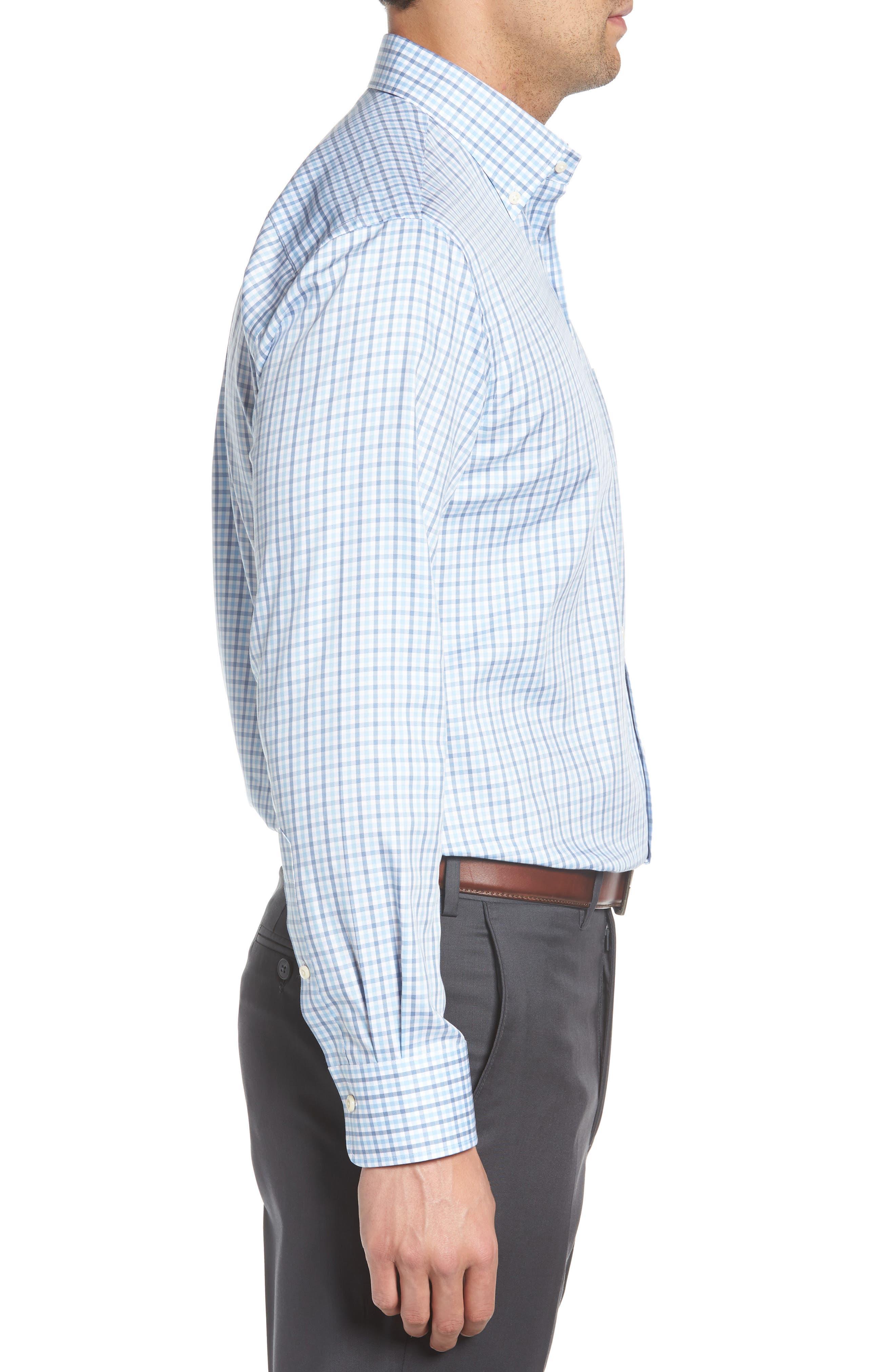 Lake City Regular Fit Tattersall Sport Shirt,                             Alternate thumbnail 3, color,                             COTTAGE BLUE
