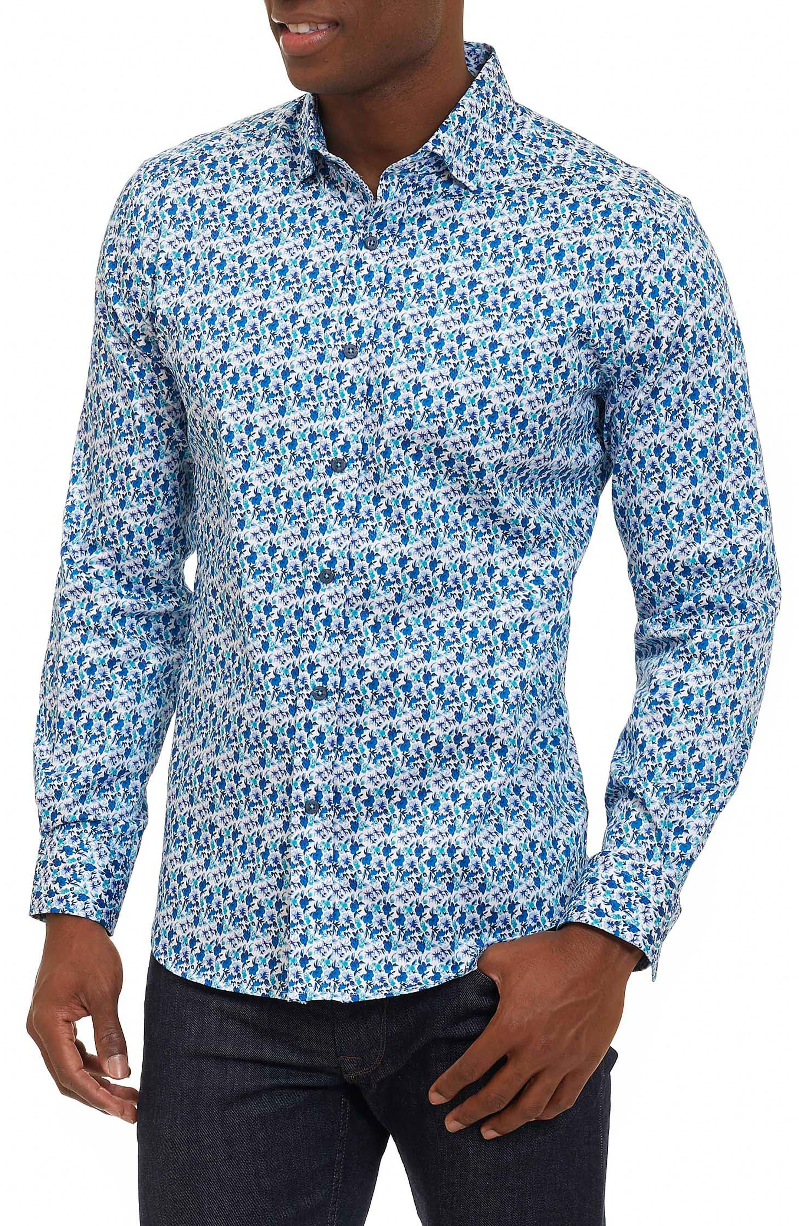 Rylan Tailored Fit Print Sport Shirt,                         Main,                         color, 100
