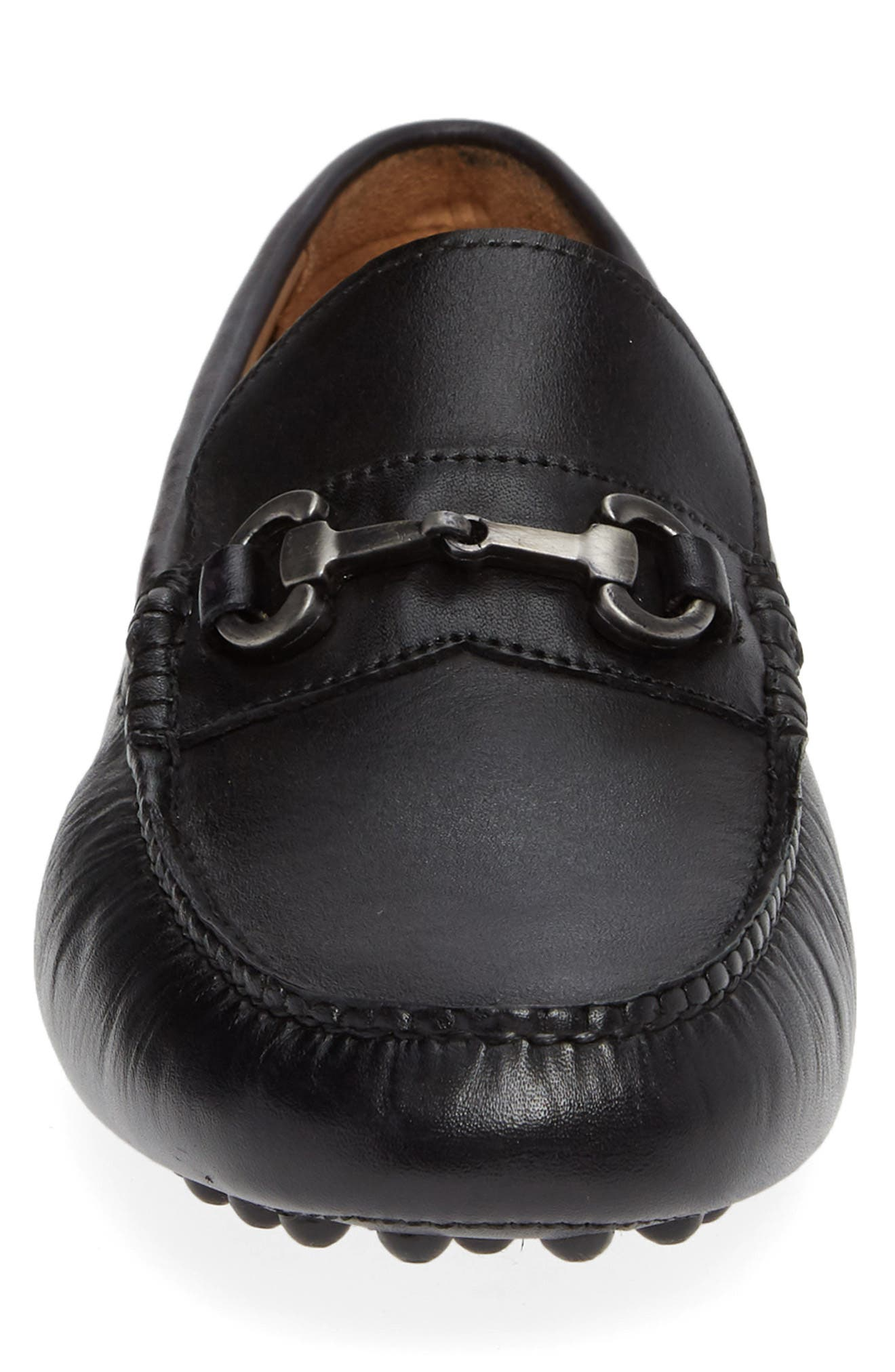 NORDSTROM MEN'S SHOP,                             Anthony Driving Shoe,                             Alternate thumbnail 4, color,                             BLACK LEATHER