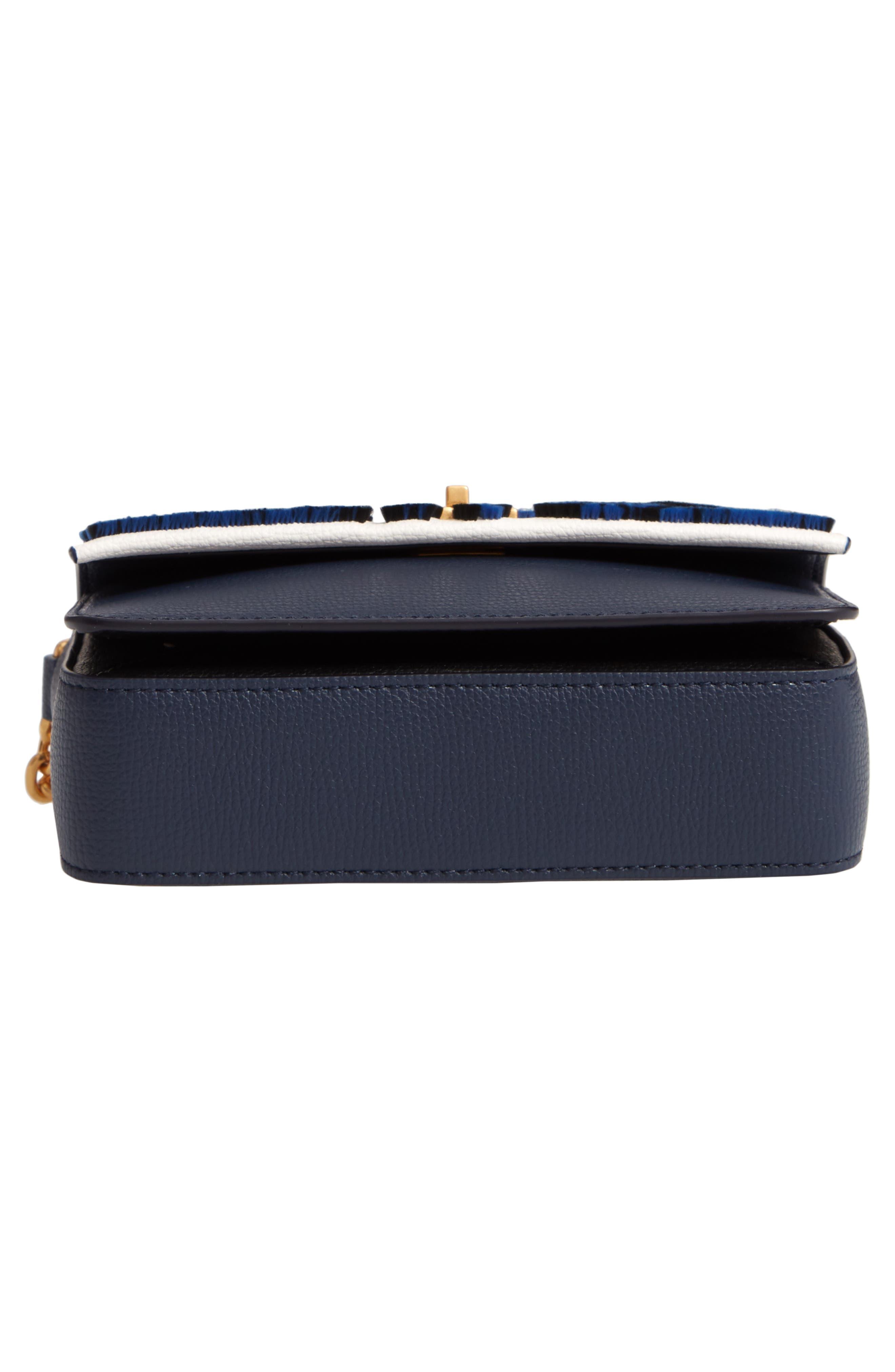 Mini Kira Leather & Fil Coupé Bag,                             Alternate thumbnail 6, color,                             NEUTRAL HAPPY TIMES
