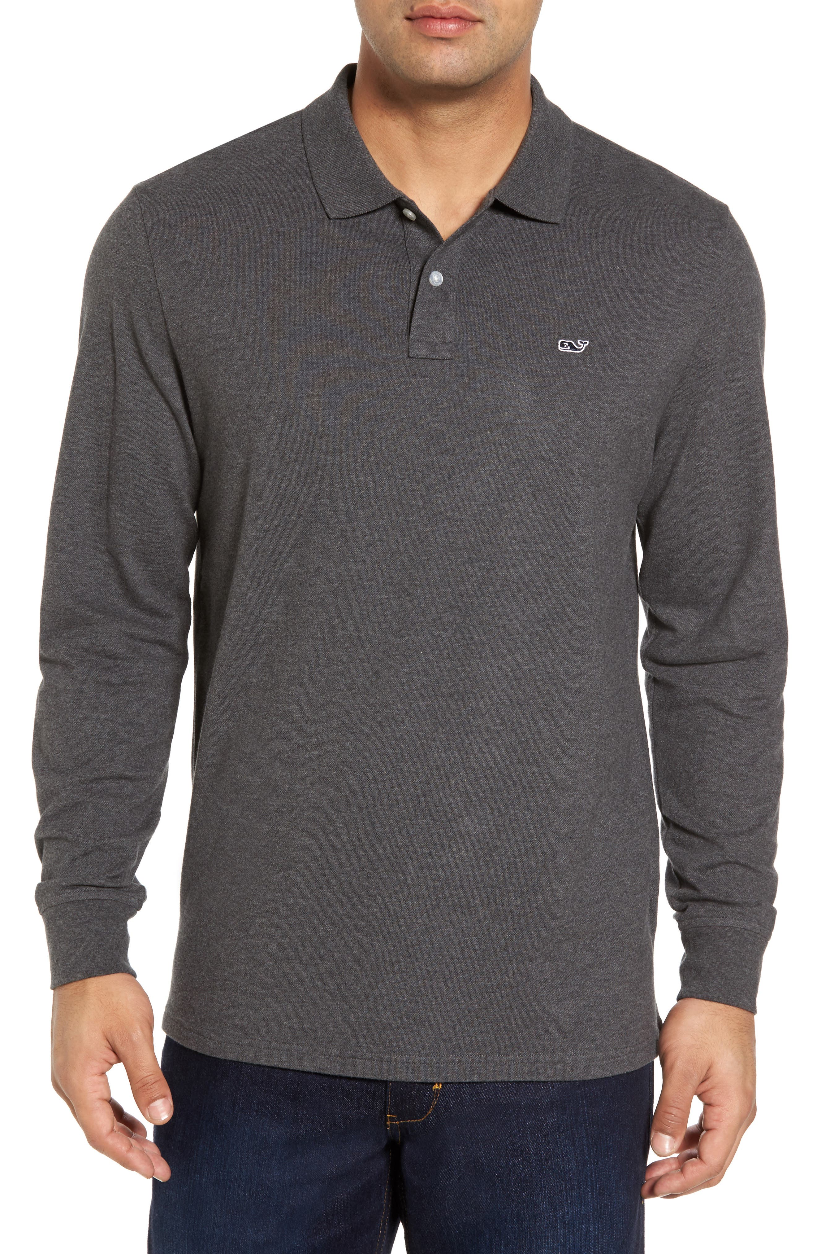 Long Sleeve Polo,                             Main thumbnail 1, color,                             025