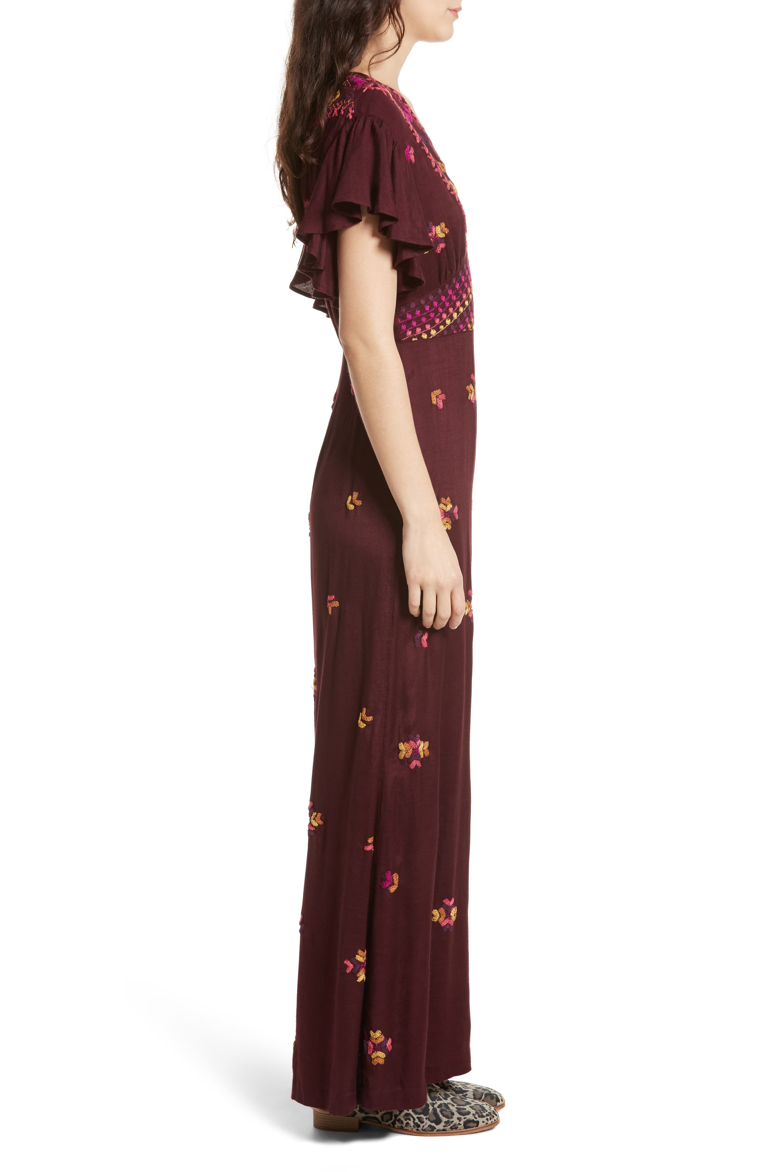 Cleo Embroidered Jumpsuit,                             Alternate thumbnail 3, color,                             500