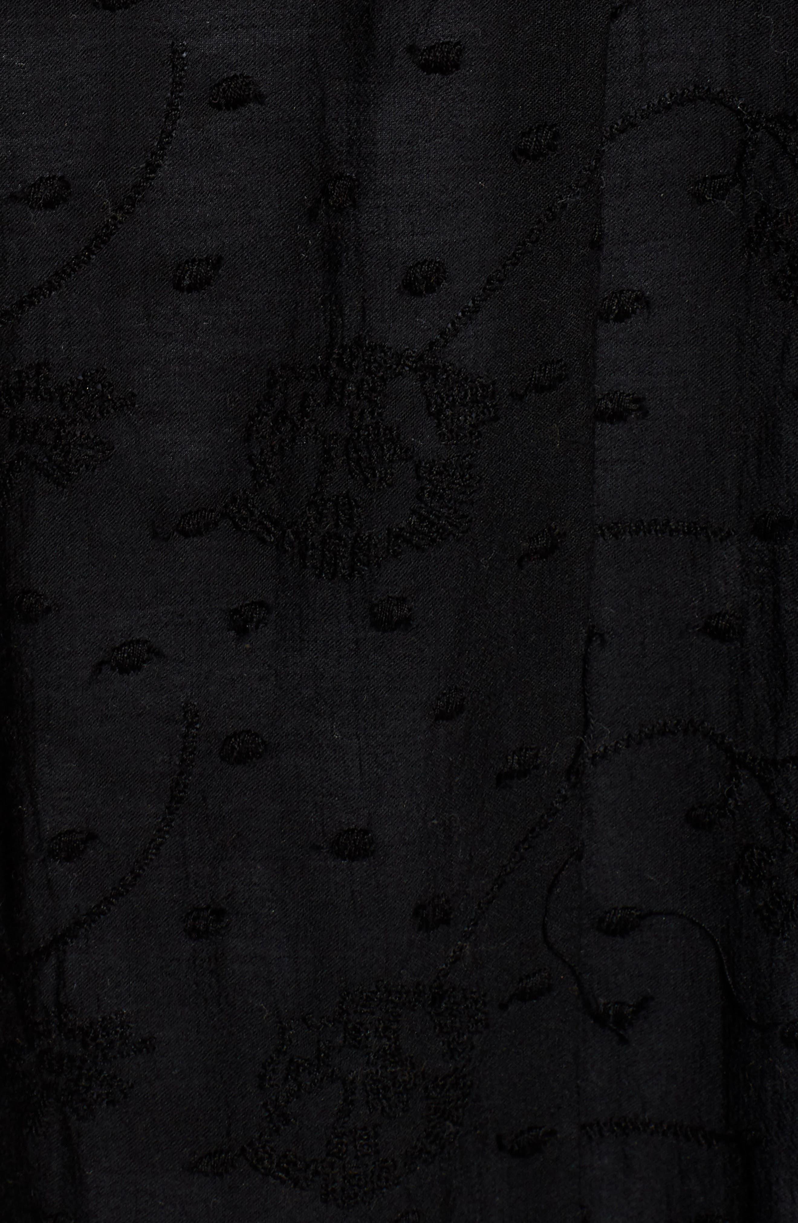 Dottie West Kimono,                             Alternate thumbnail 5, color,                             BLACK
