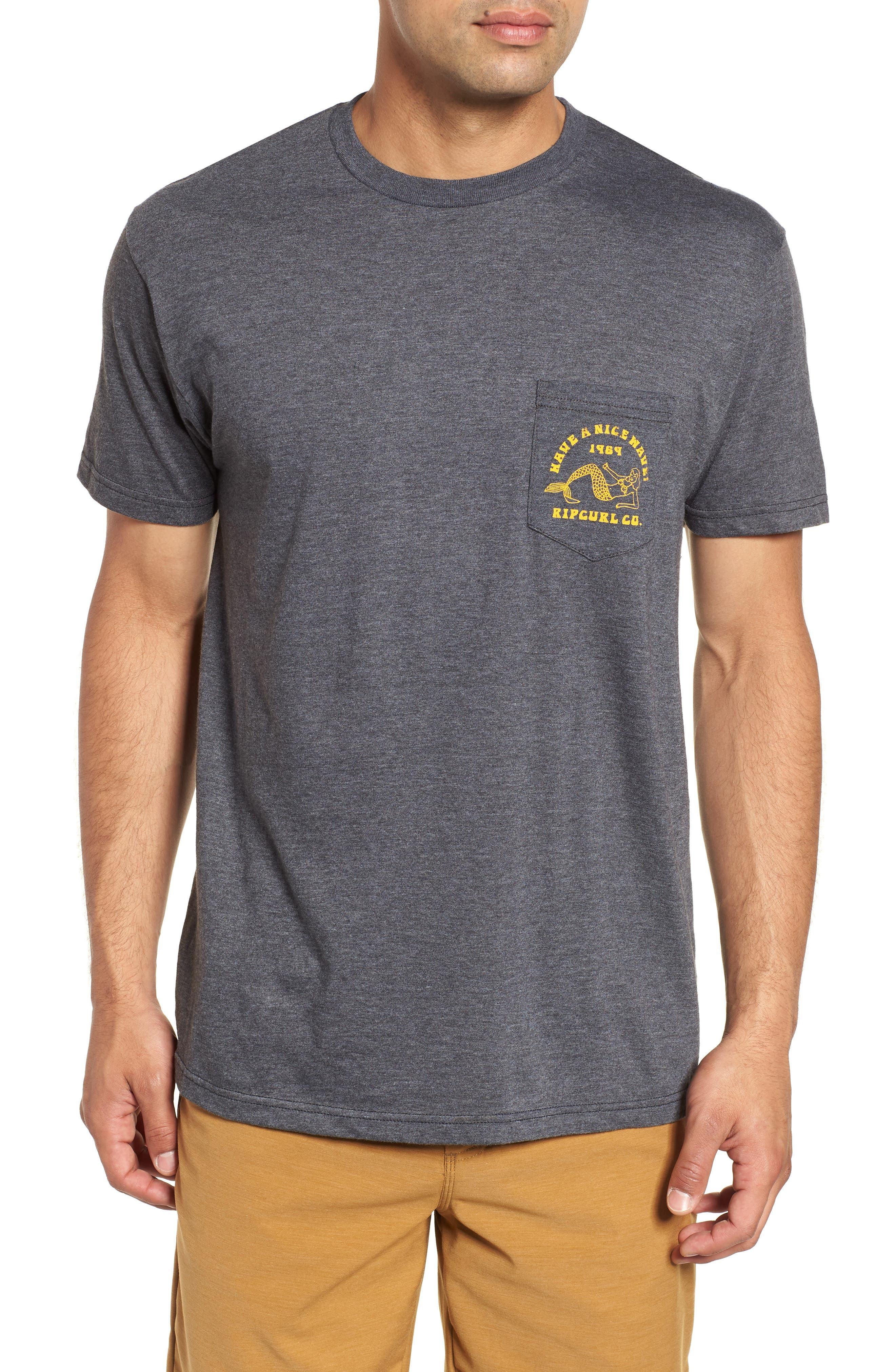 Merman Heathered Pocket T-Shirt,                             Main thumbnail 1, color,                             020
