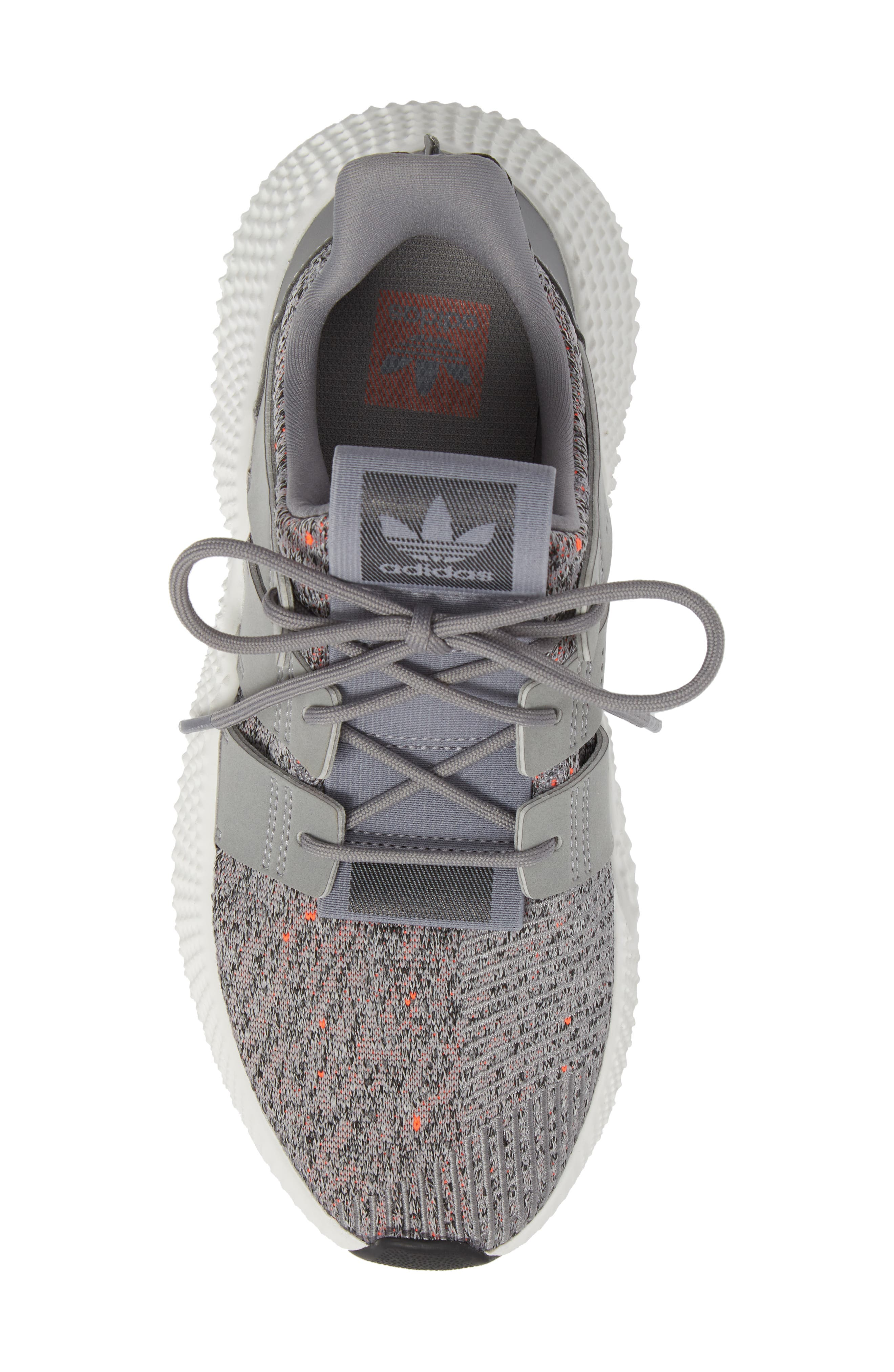 Prophere Sneaker,                             Alternate thumbnail 5, color,                             GREY/ WHITE/ SOLAR RED