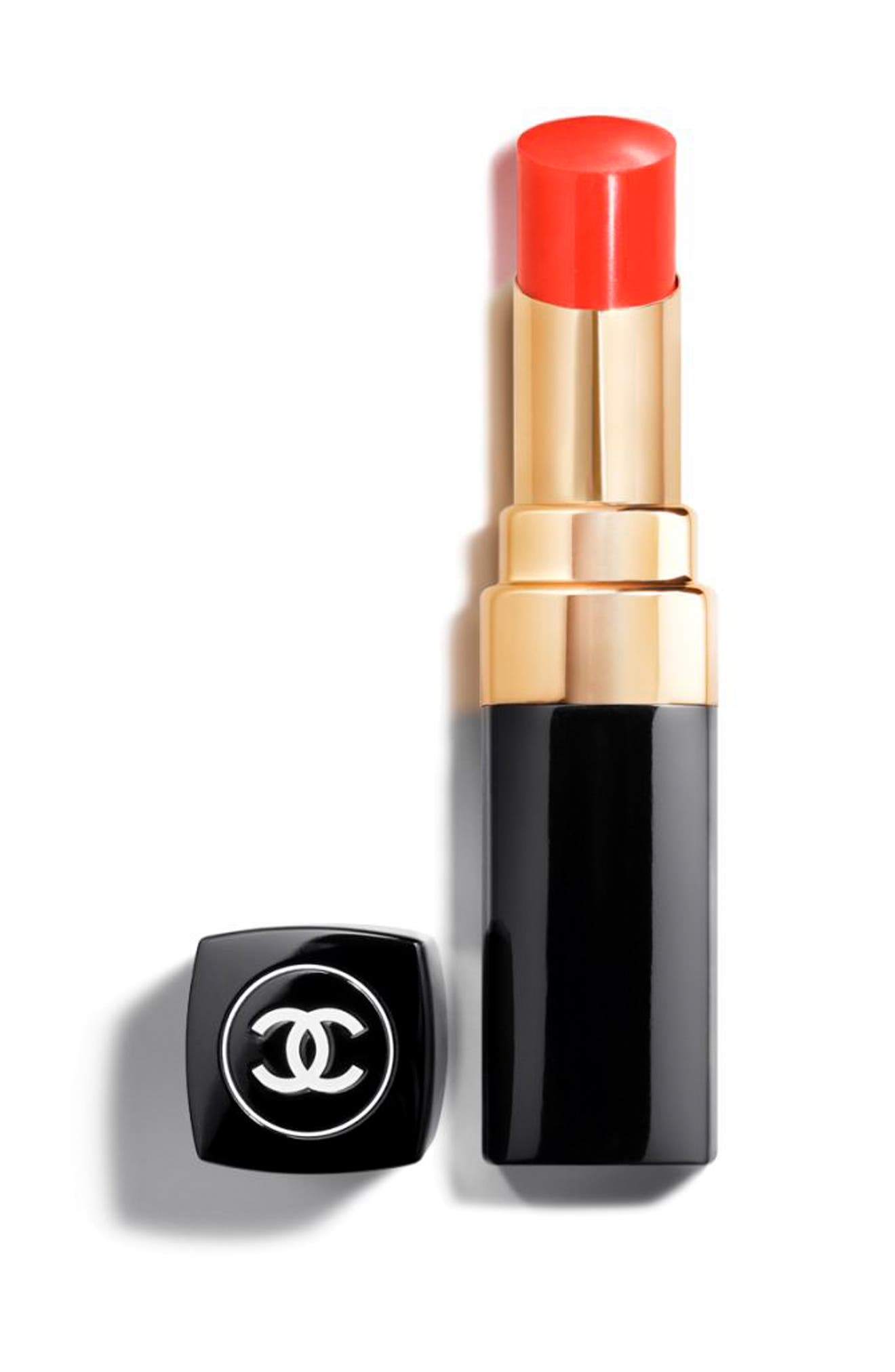 ROUGE COCO SHINE<br />Hydrating Sheer Lipshine,                             Main thumbnail 1, color,                             138 POPPY ORANGE