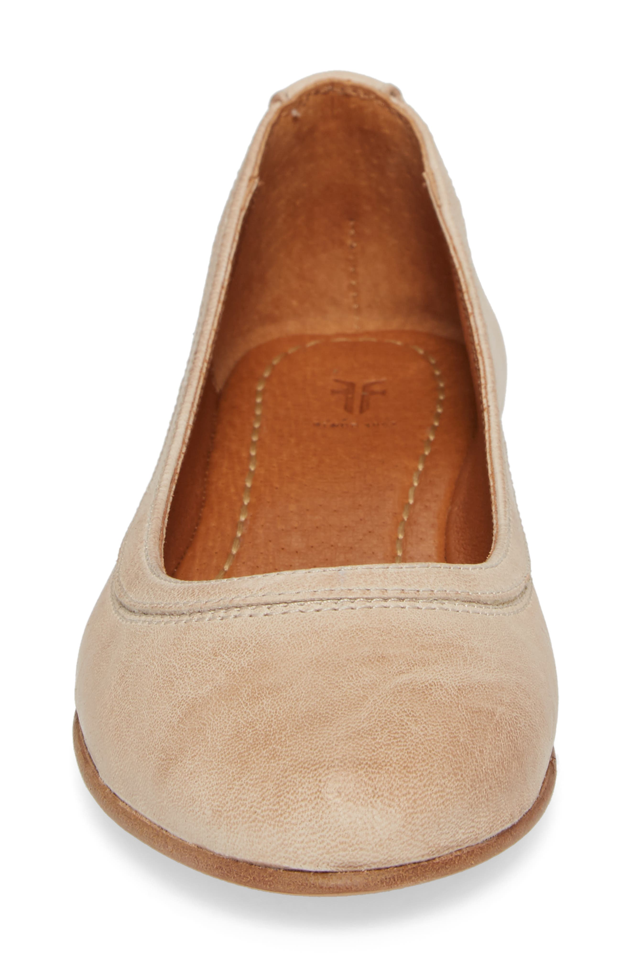 'Carson' Ballet Flat,                             Alternate thumbnail 5, color,                             CREAM LEATHER