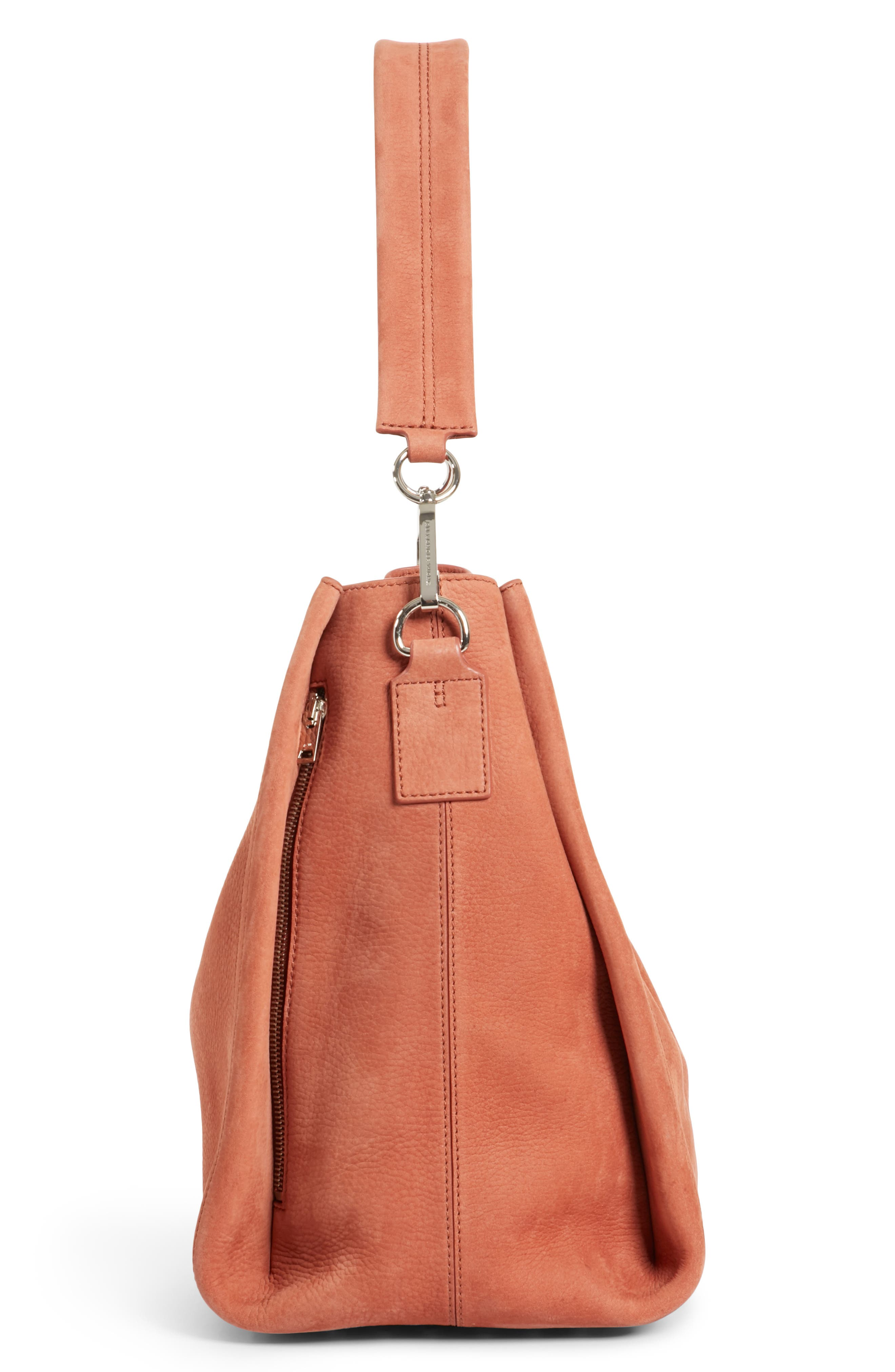 Darcy Pebbled Leather Hobo,                             Alternate thumbnail 5, color,                             200