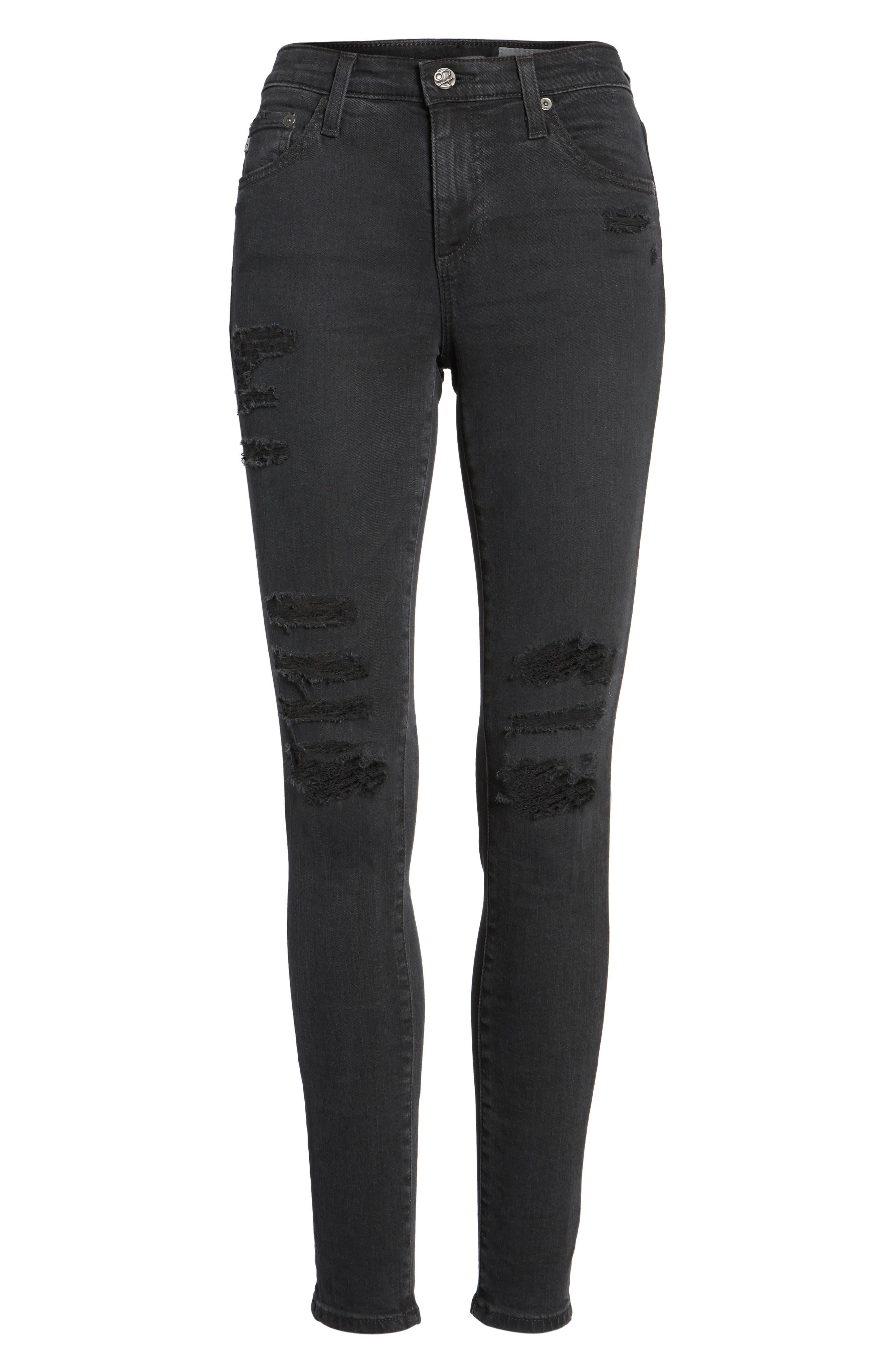 'The Legging' Ankle Super Skinny Jeans,                             Alternate thumbnail 24, color,