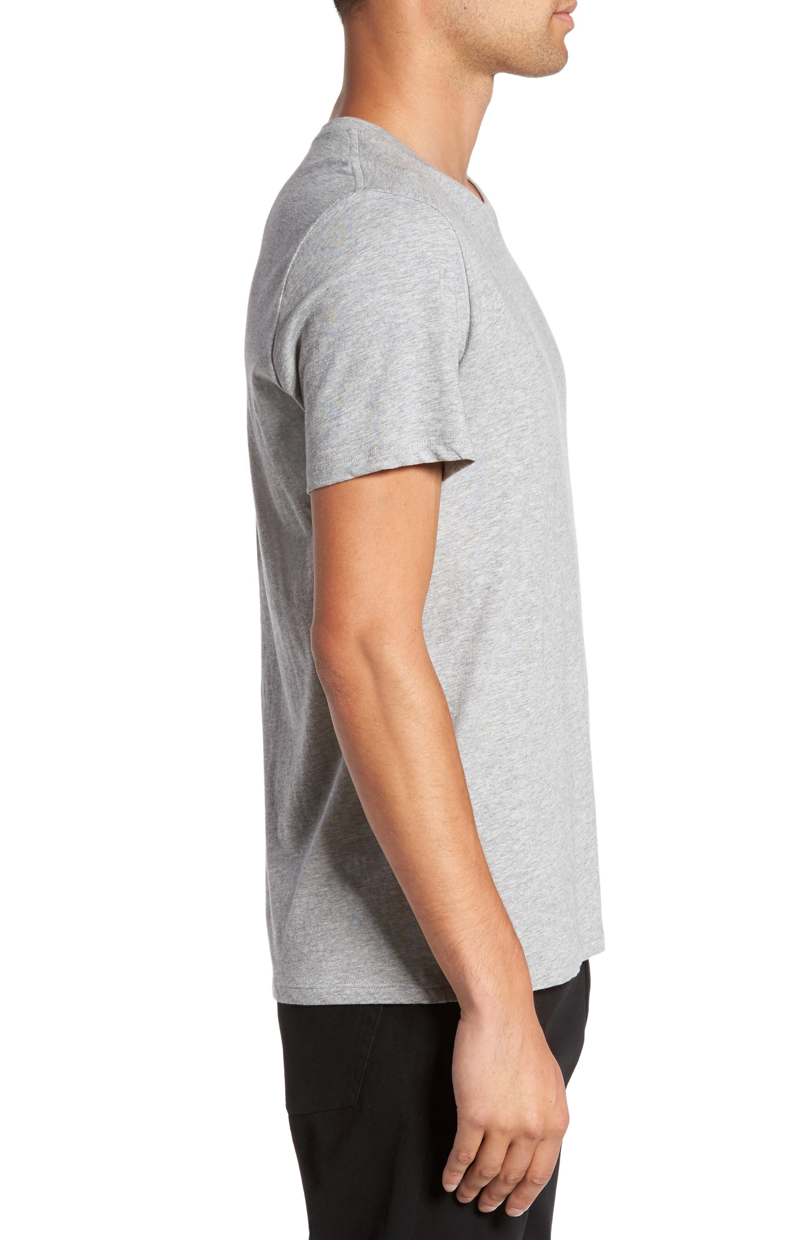 Regular Fit Crewneck T-Shirt,                             Alternate thumbnail 3, color,                             095