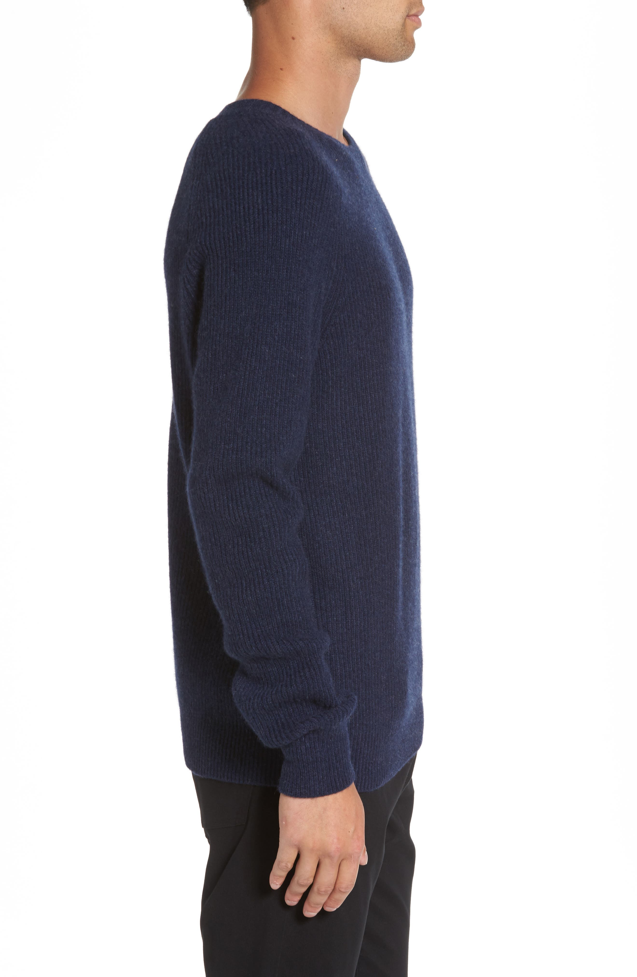 Ribbed Wool & Cashmere Raglan Sweater,                             Alternate thumbnail 11, color,