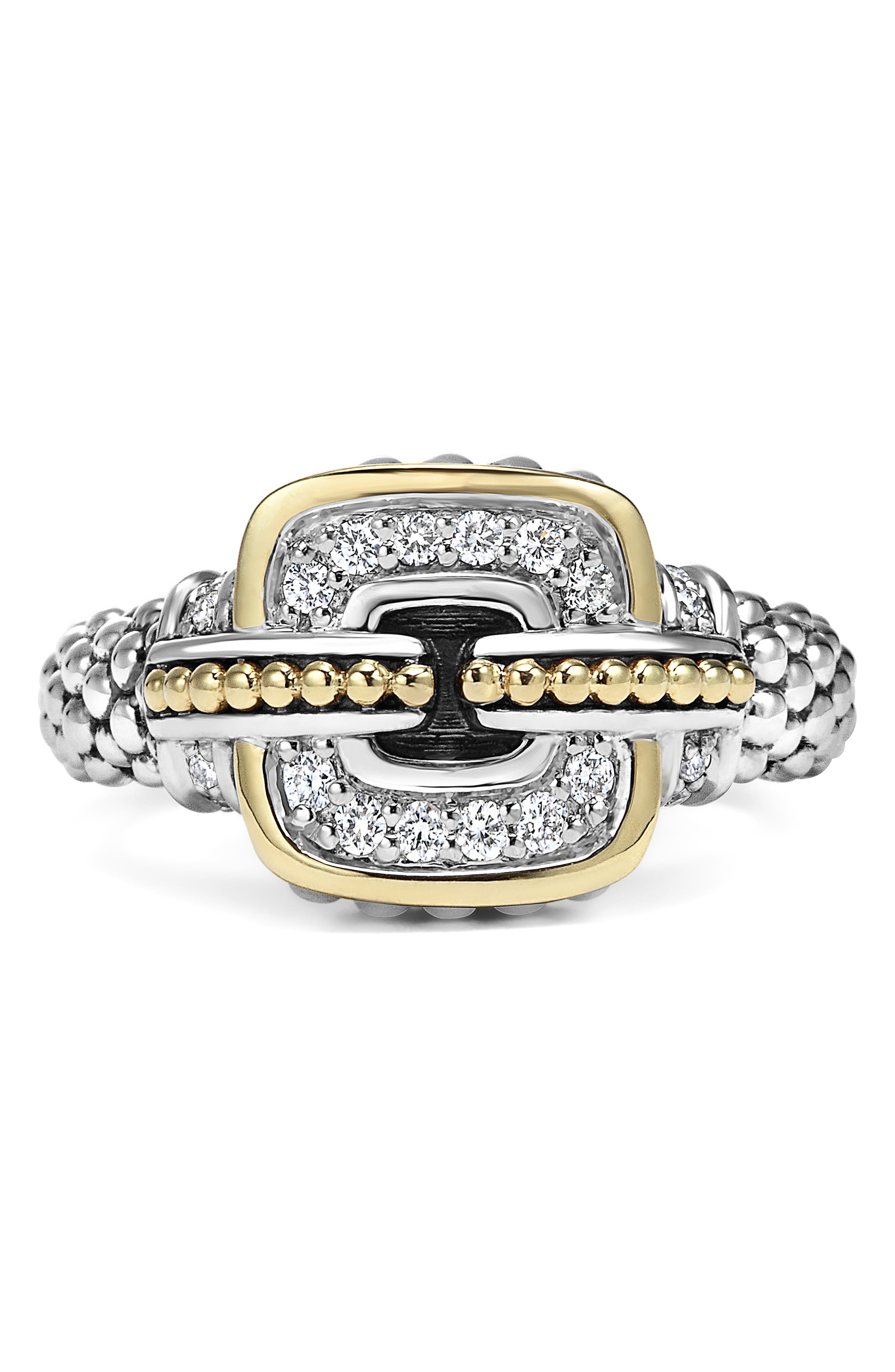 'Cushion' Small Diamond Ring,                             Alternate thumbnail 3, color,                             040