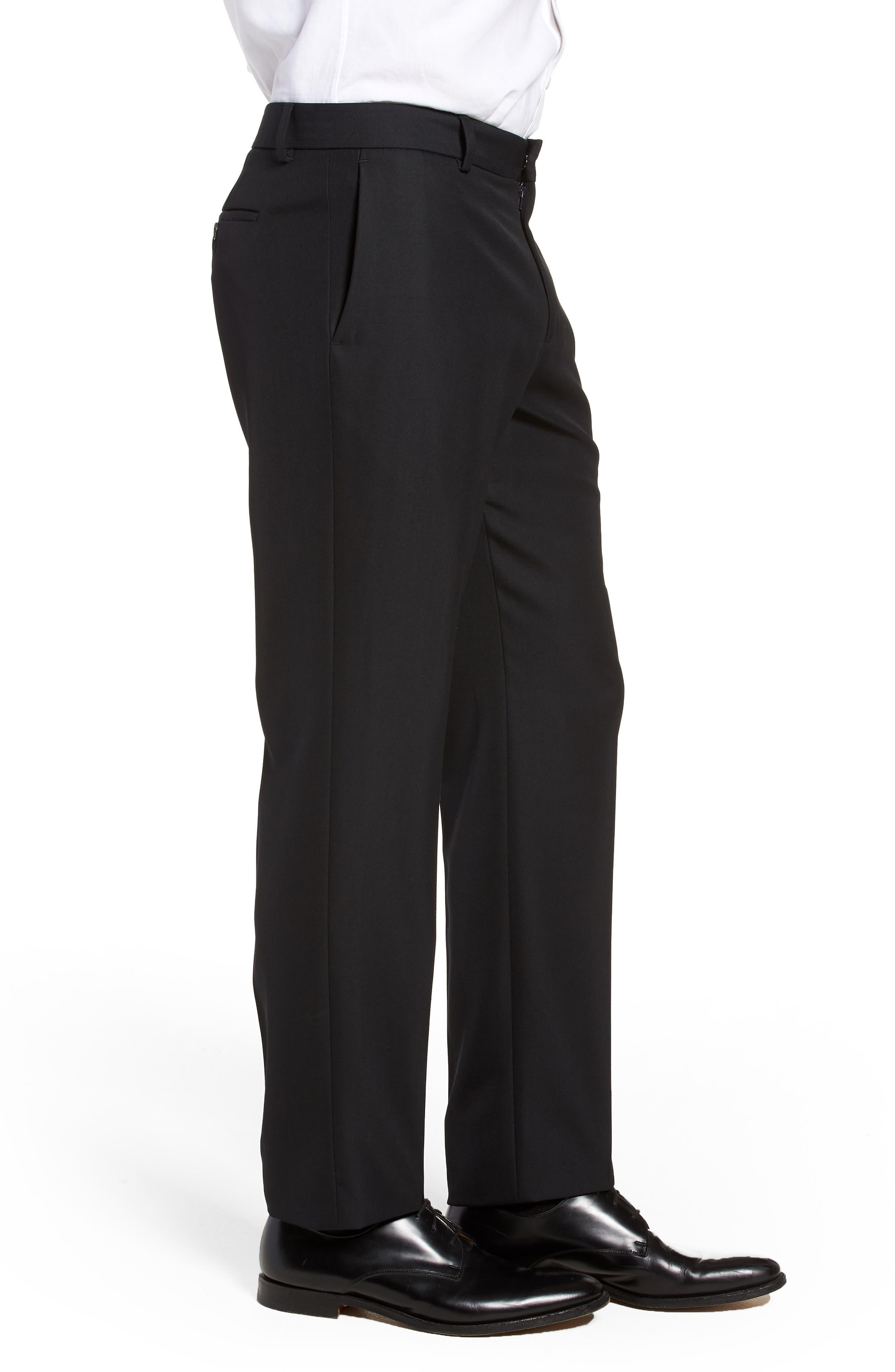 Classic Slim Fit Trousers,                             Alternate thumbnail 3, color,                             400
