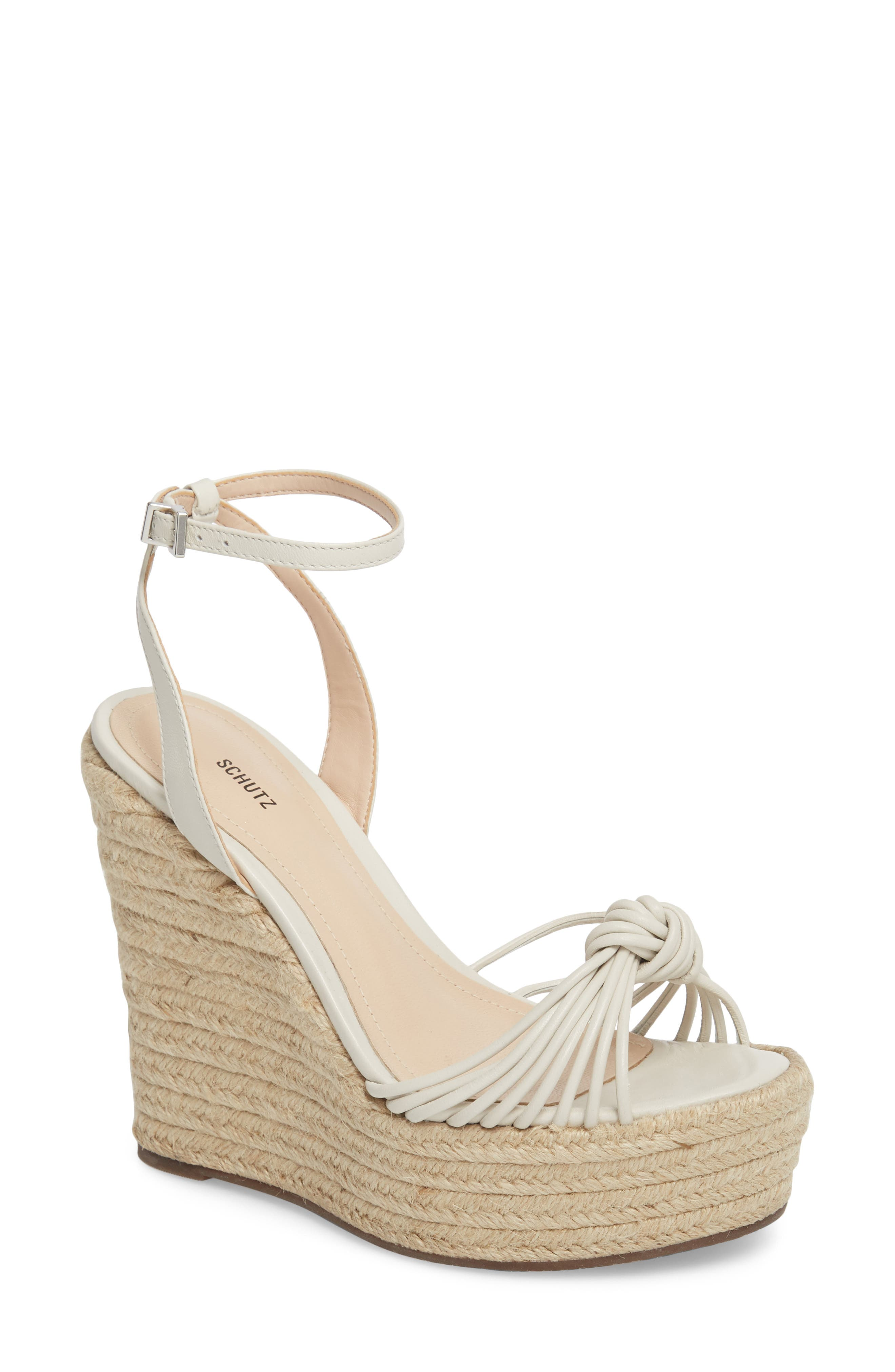 Gianne Platform Wedge Sandal,                         Main,                         color, PEARL FABRIC