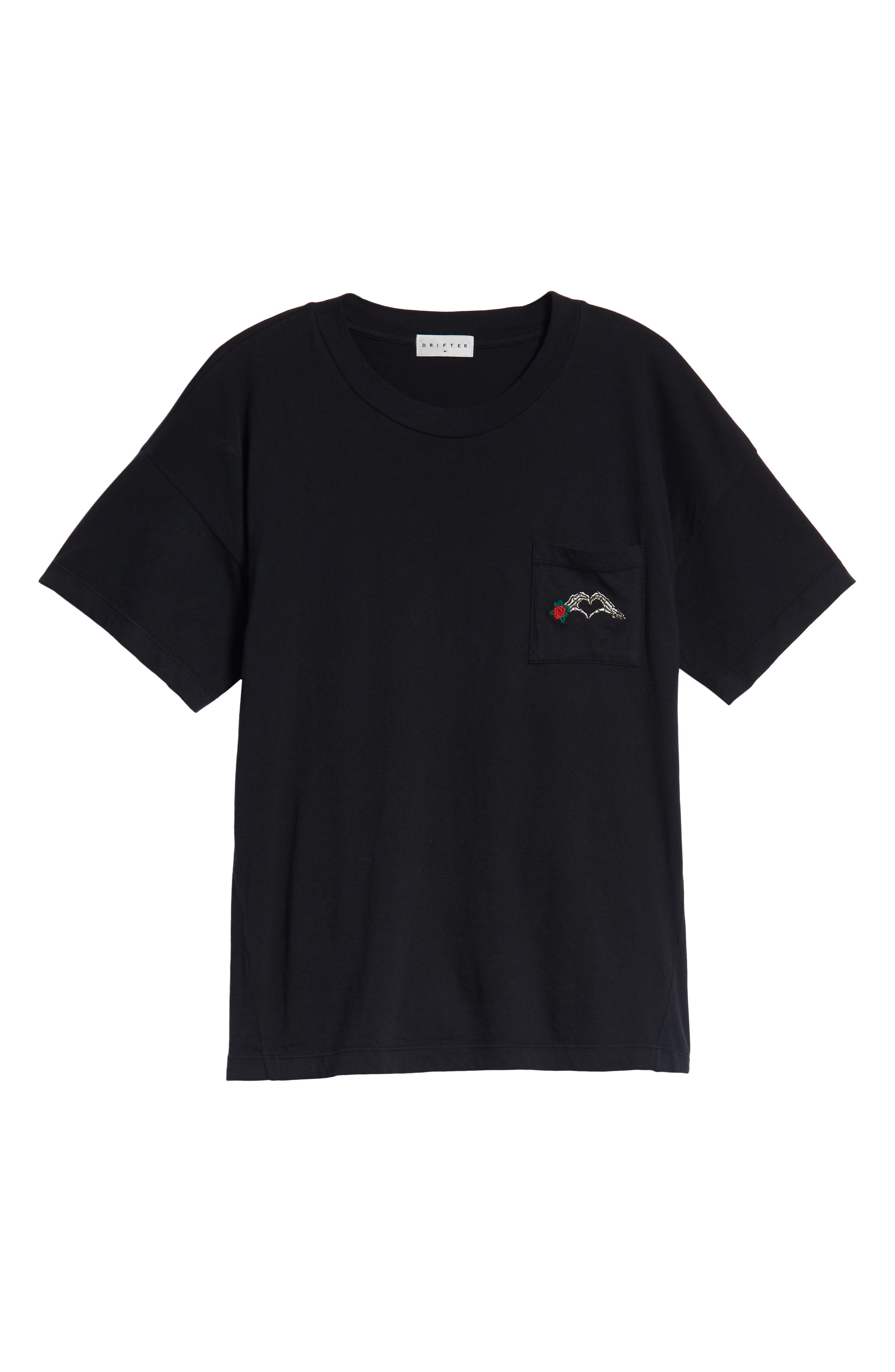 Hayes T-Shirt,                             Alternate thumbnail 6, color,                             BLACK