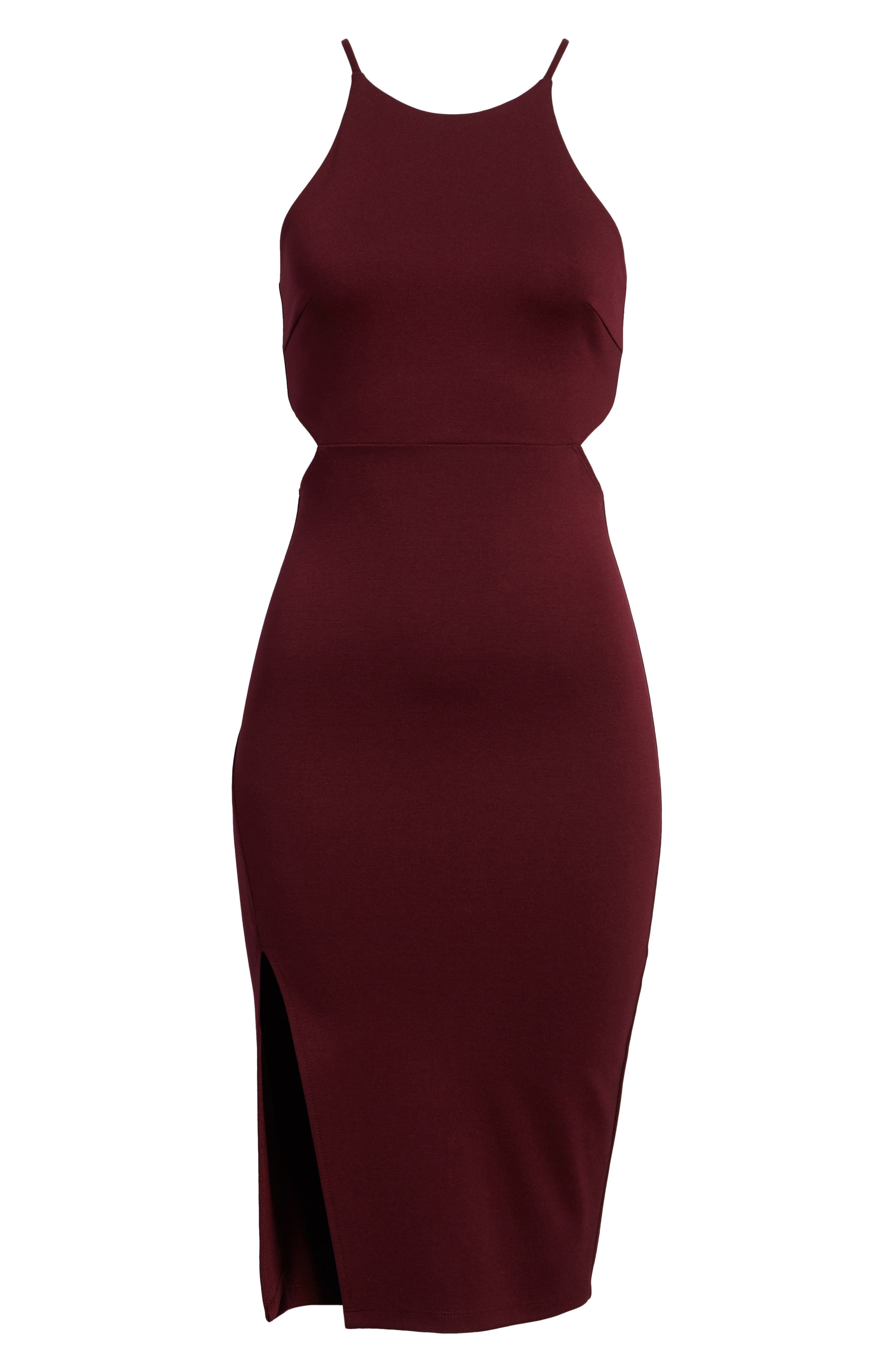 Side Cutout Body Con Dress,                             Alternate thumbnail 24, color,