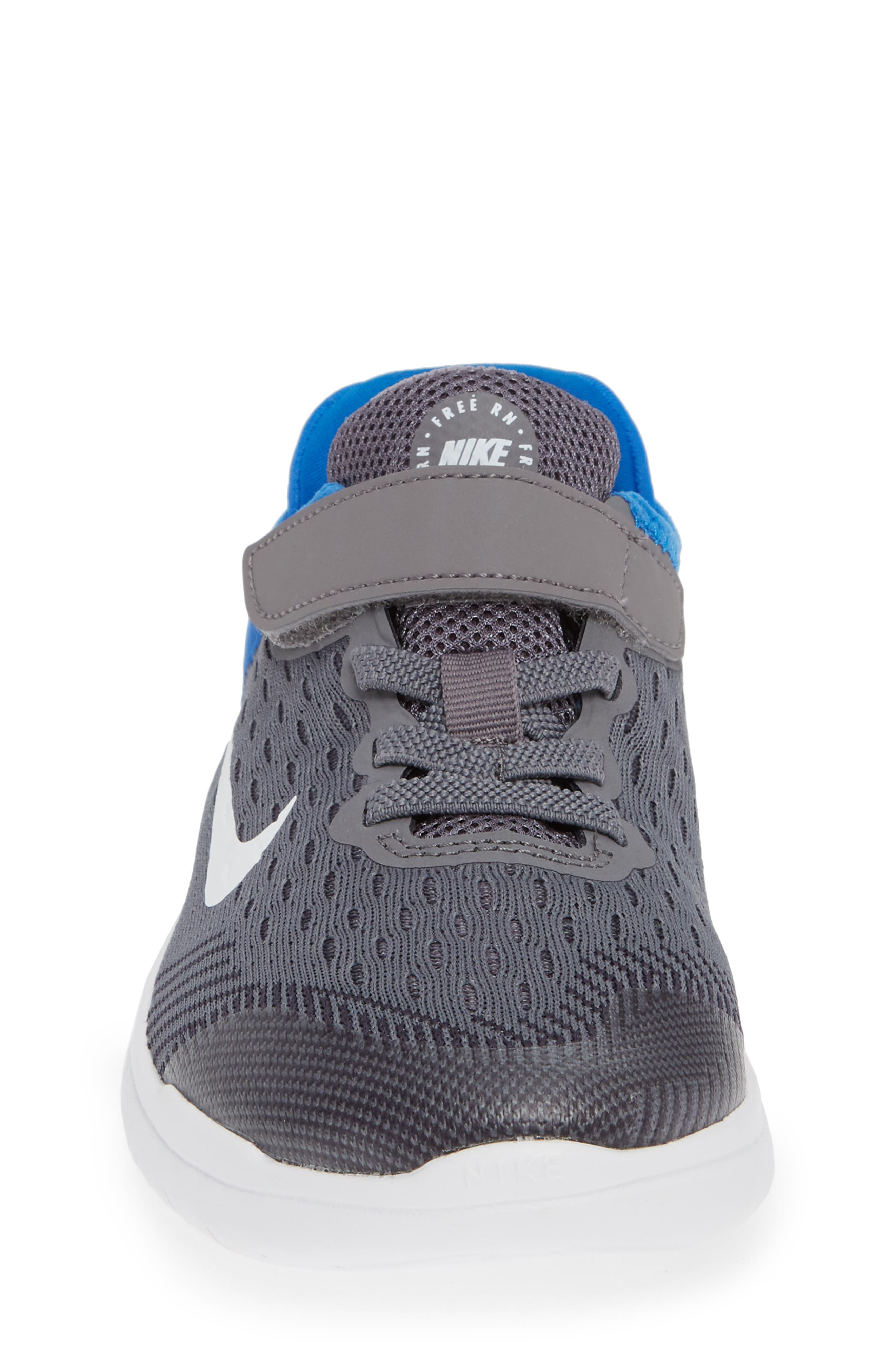 Free RN Running Shoe,                             Alternate thumbnail 4, color,                             GREY/WHITE/BLUE
