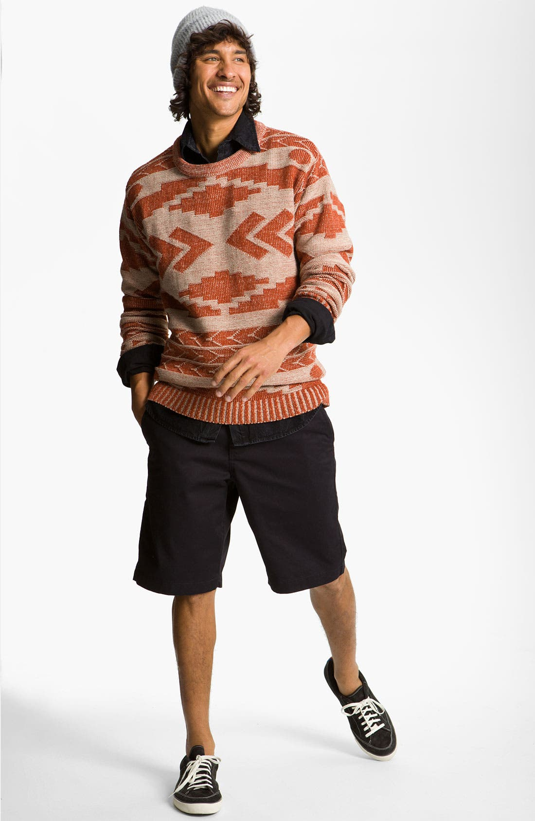'Geronimo' Pattern Knit Sweater,                             Alternate thumbnail 3, color,                             110
