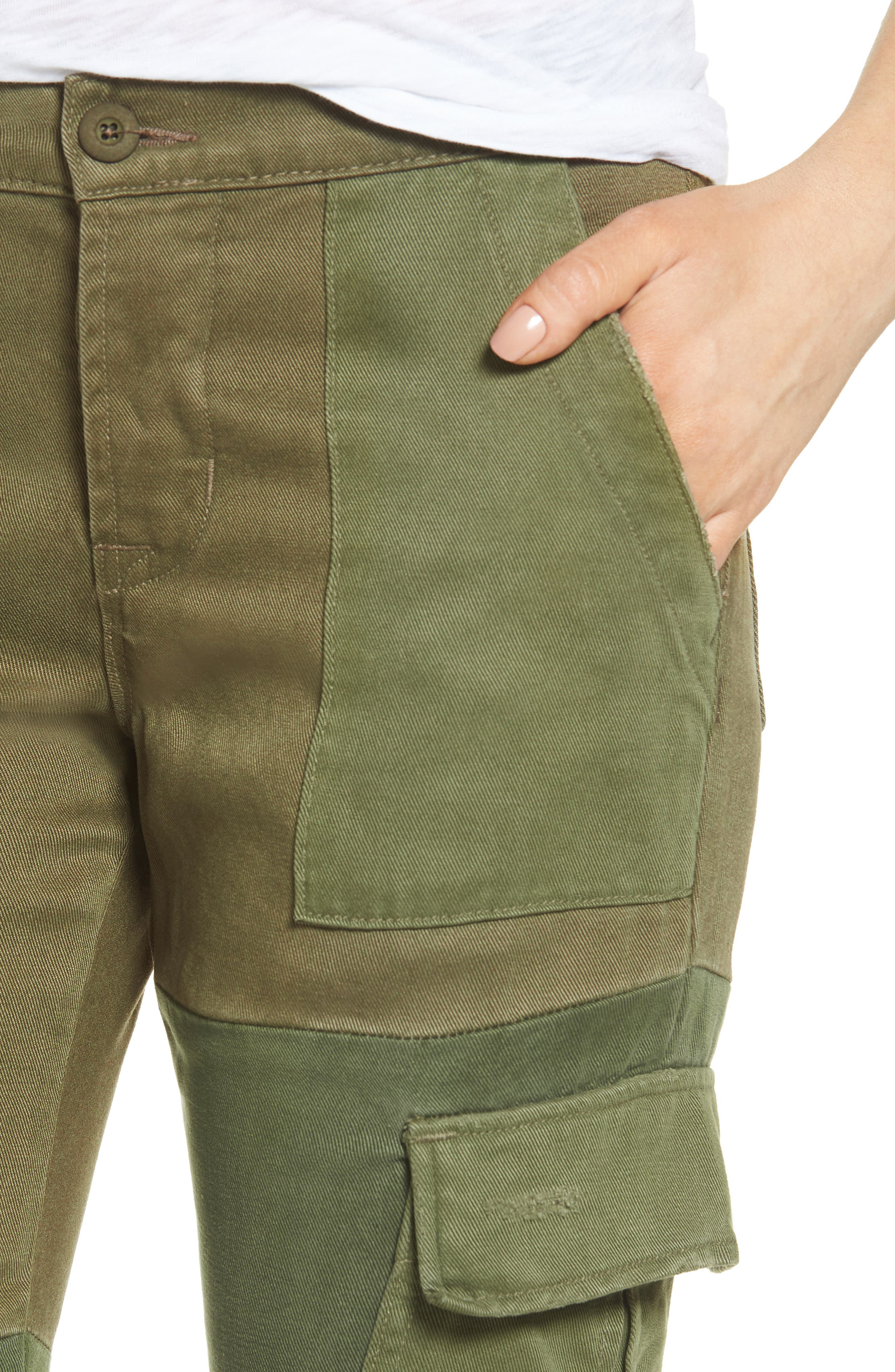 Riley Straight Leg Cargo Pants,                             Alternate thumbnail 4, color,                             340
