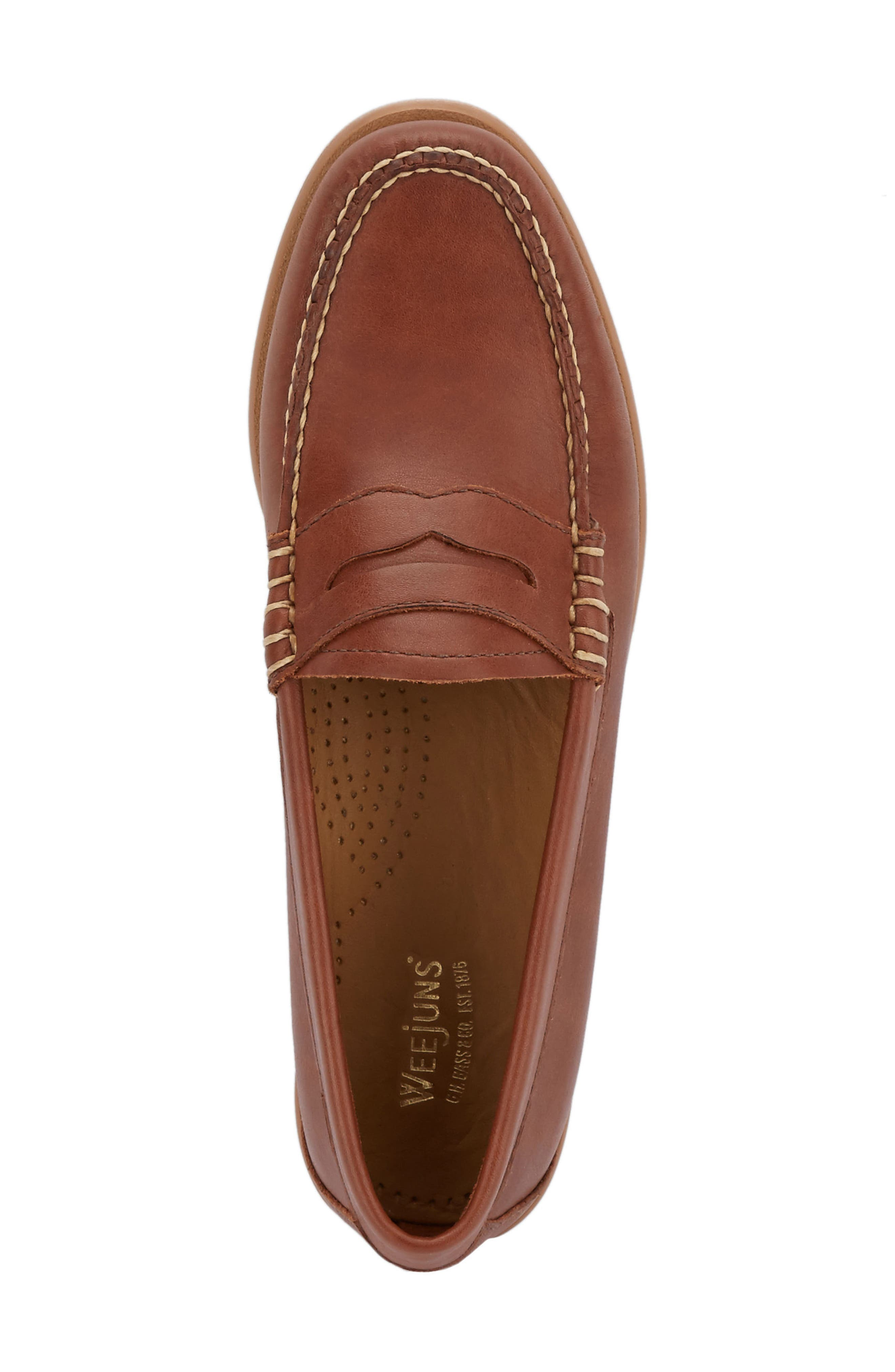 'Whitney' Loafer,                             Alternate thumbnail 3, color,                             COGNAC LEATHER