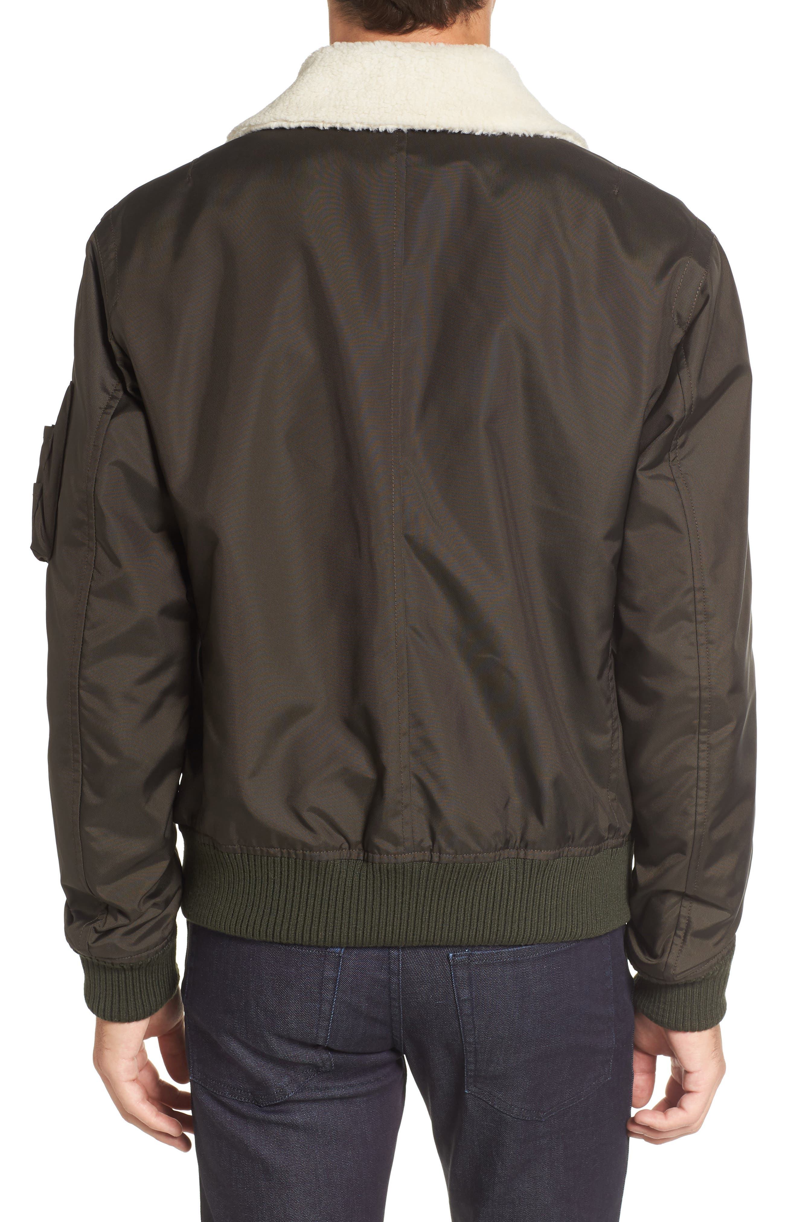 Cobra Aviator Jacket with Faux Fur Collar,                             Alternate thumbnail 2, color,