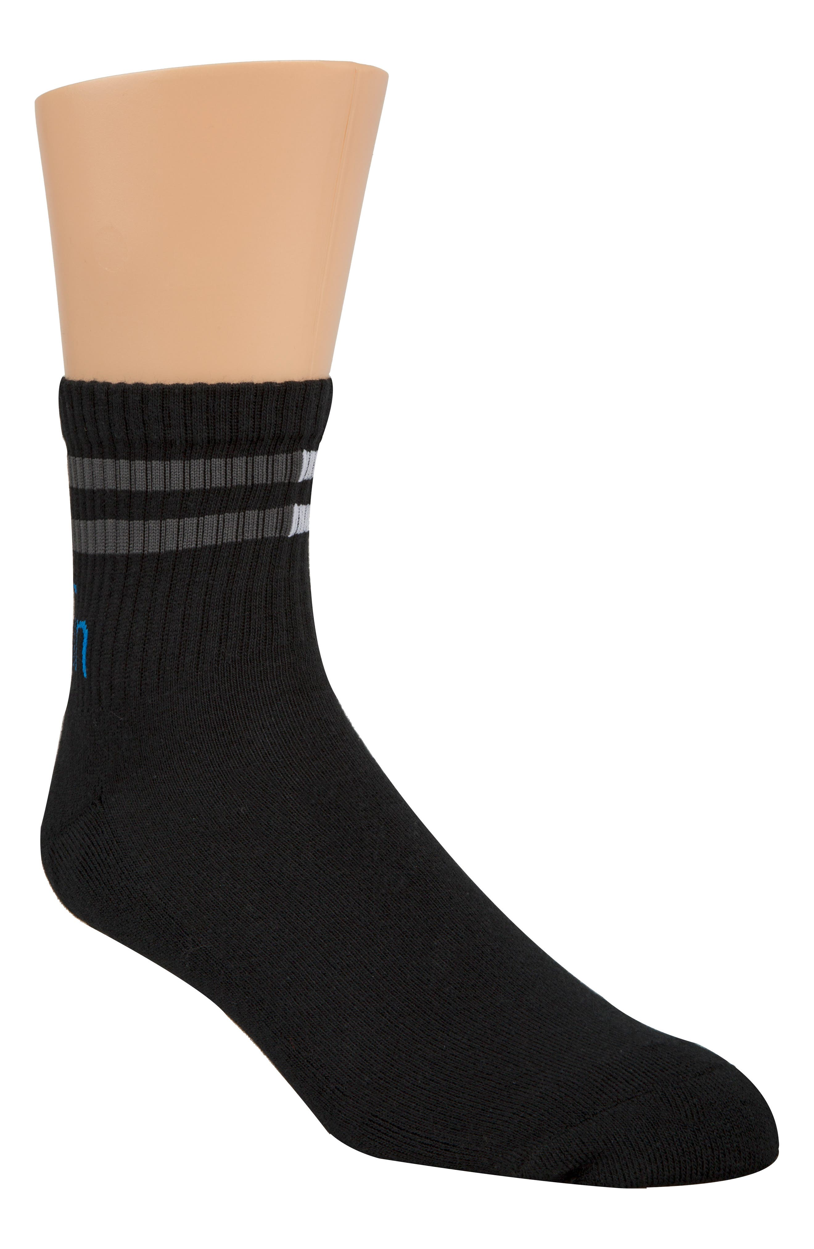 Logo Crew Socks,                         Main,                         color, 001