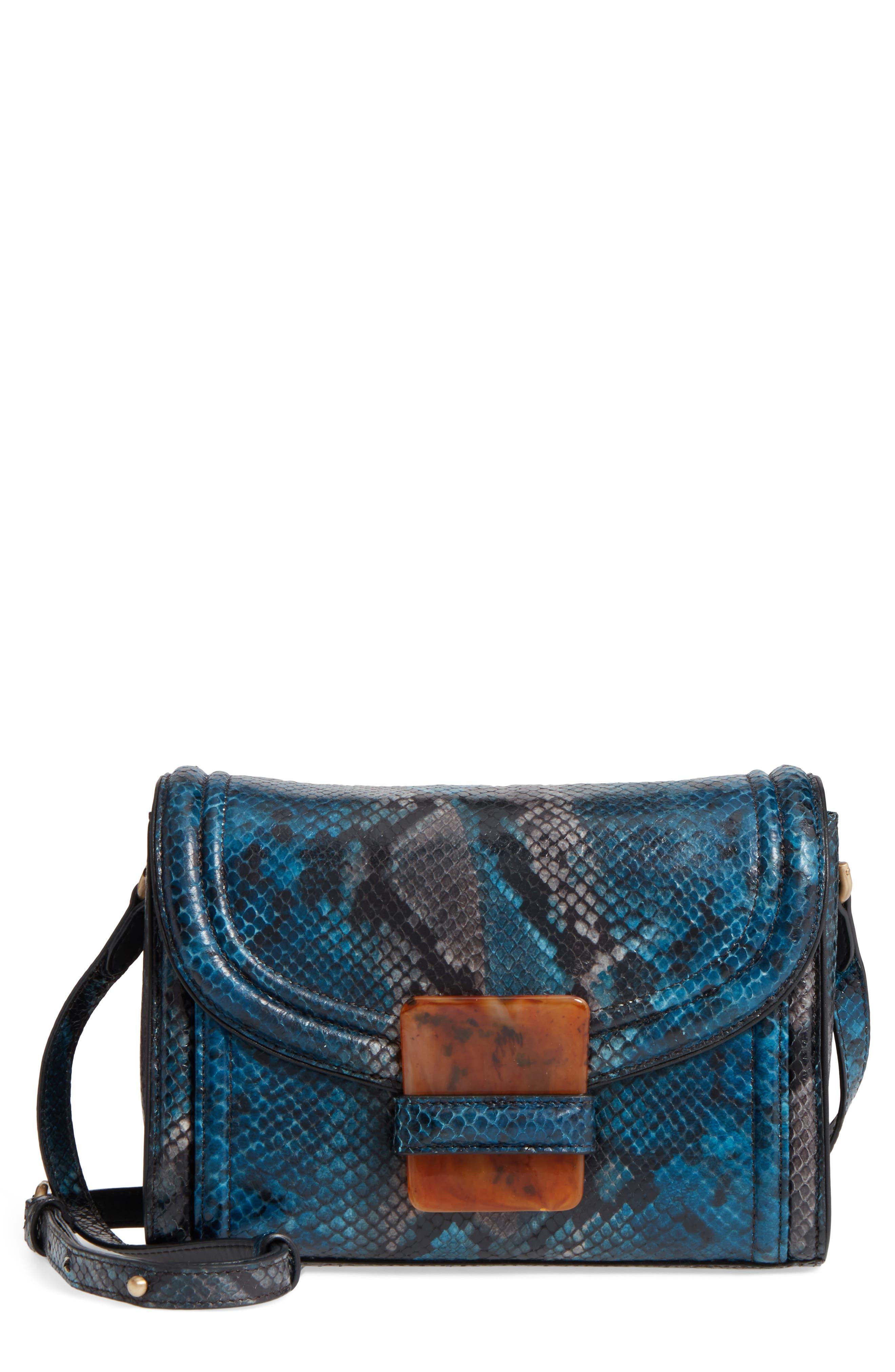Snake Embossed Crossbody Bag,                             Main thumbnail 1, color,