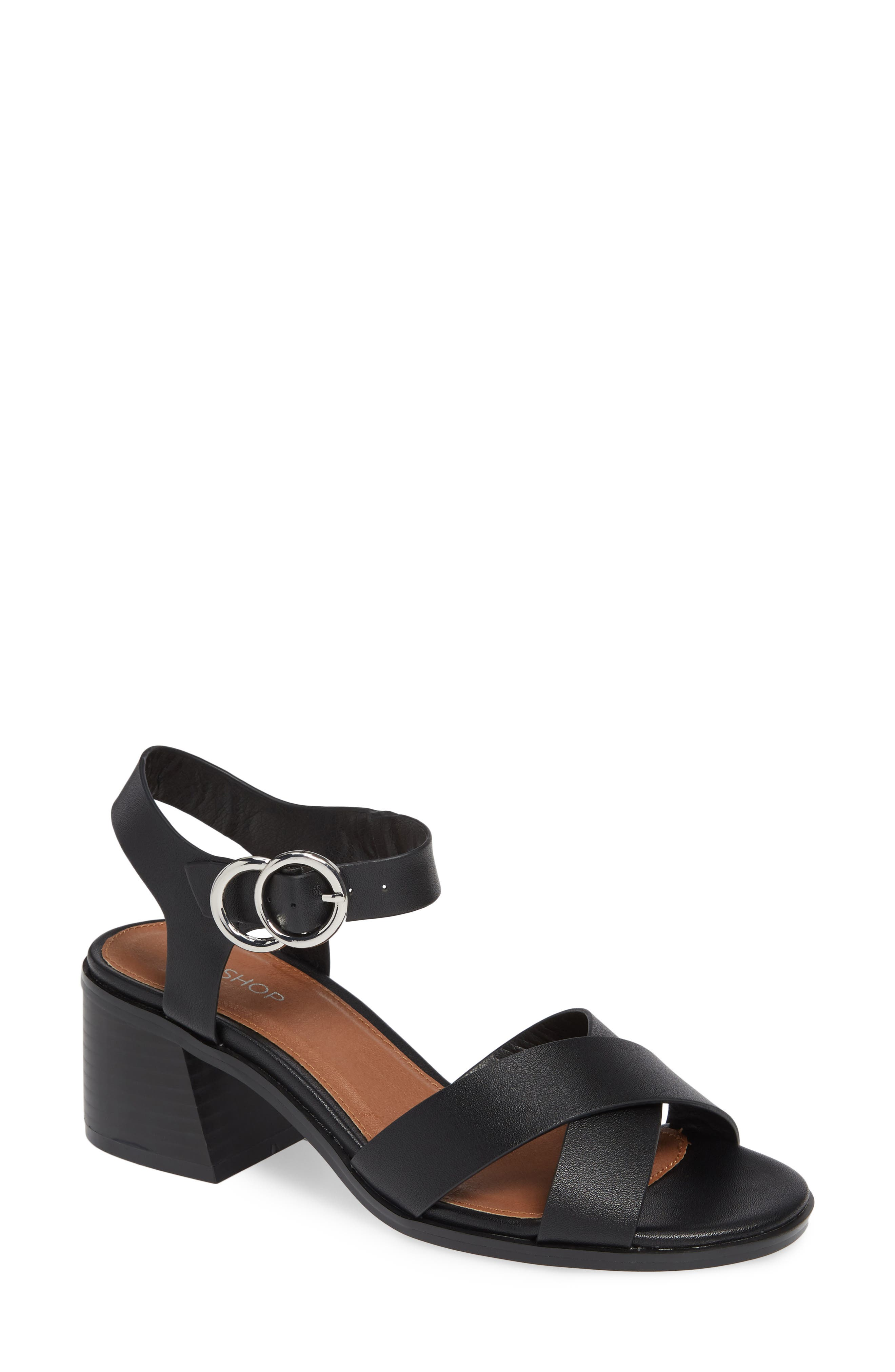 Deedee Block Heel Sandal,                         Main,                         color, 001